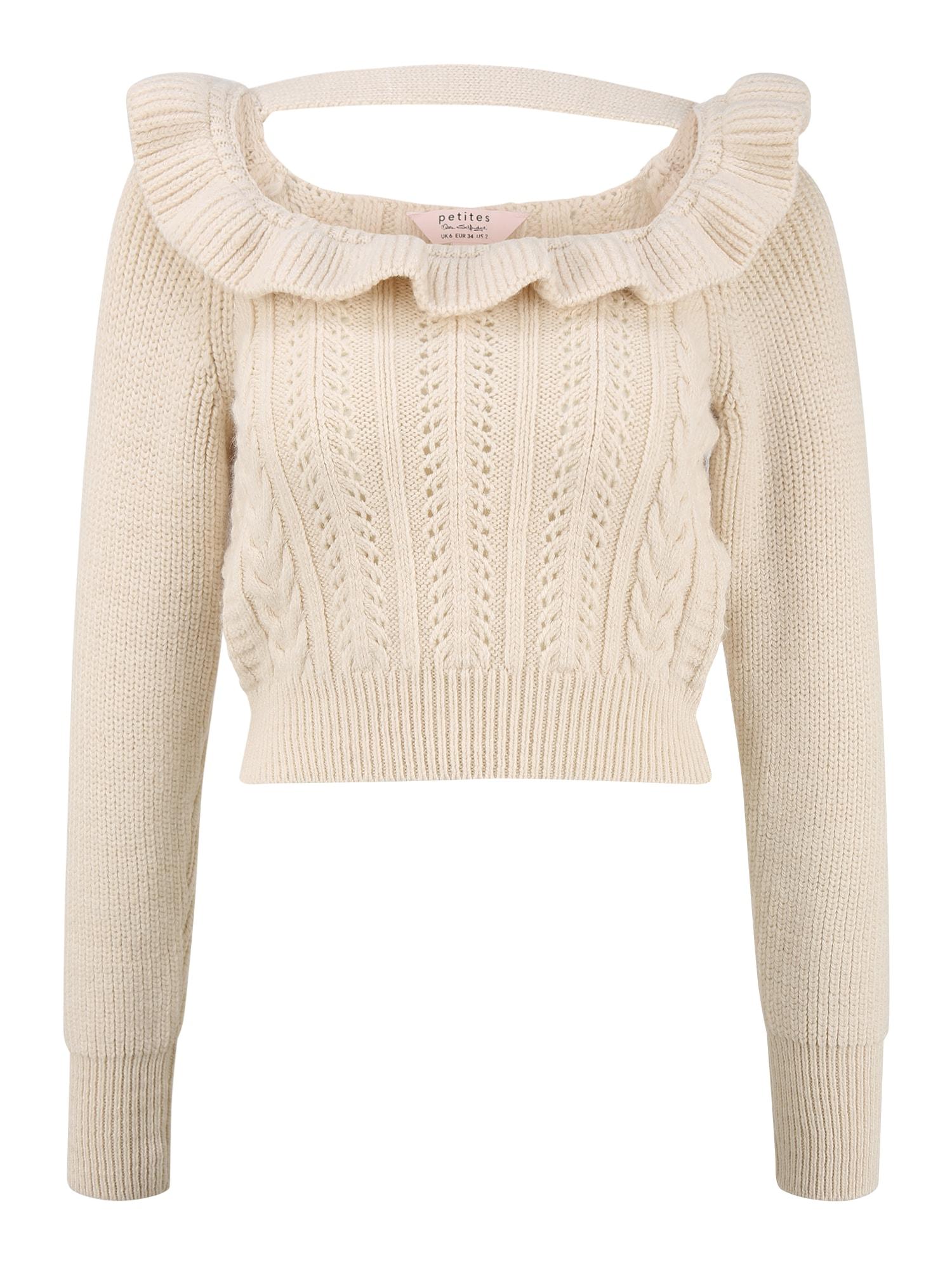 Miss Selfridge (Petite) Megztinis smėlio spalva
