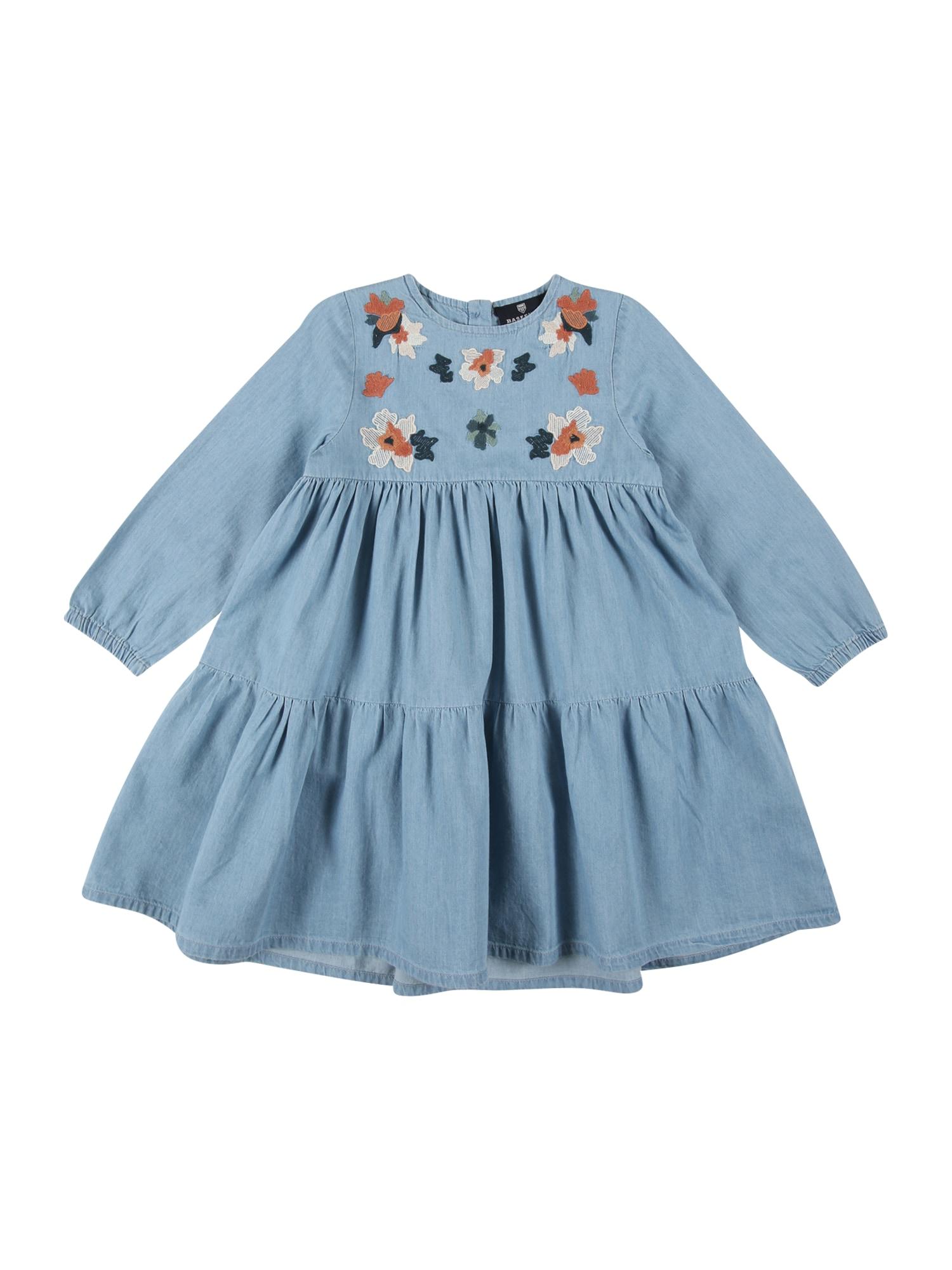 BASEFIELD Suknelė tamsiai (džinso) mėlyna / rusvai oranžinė / tamsiai žalia / kremo