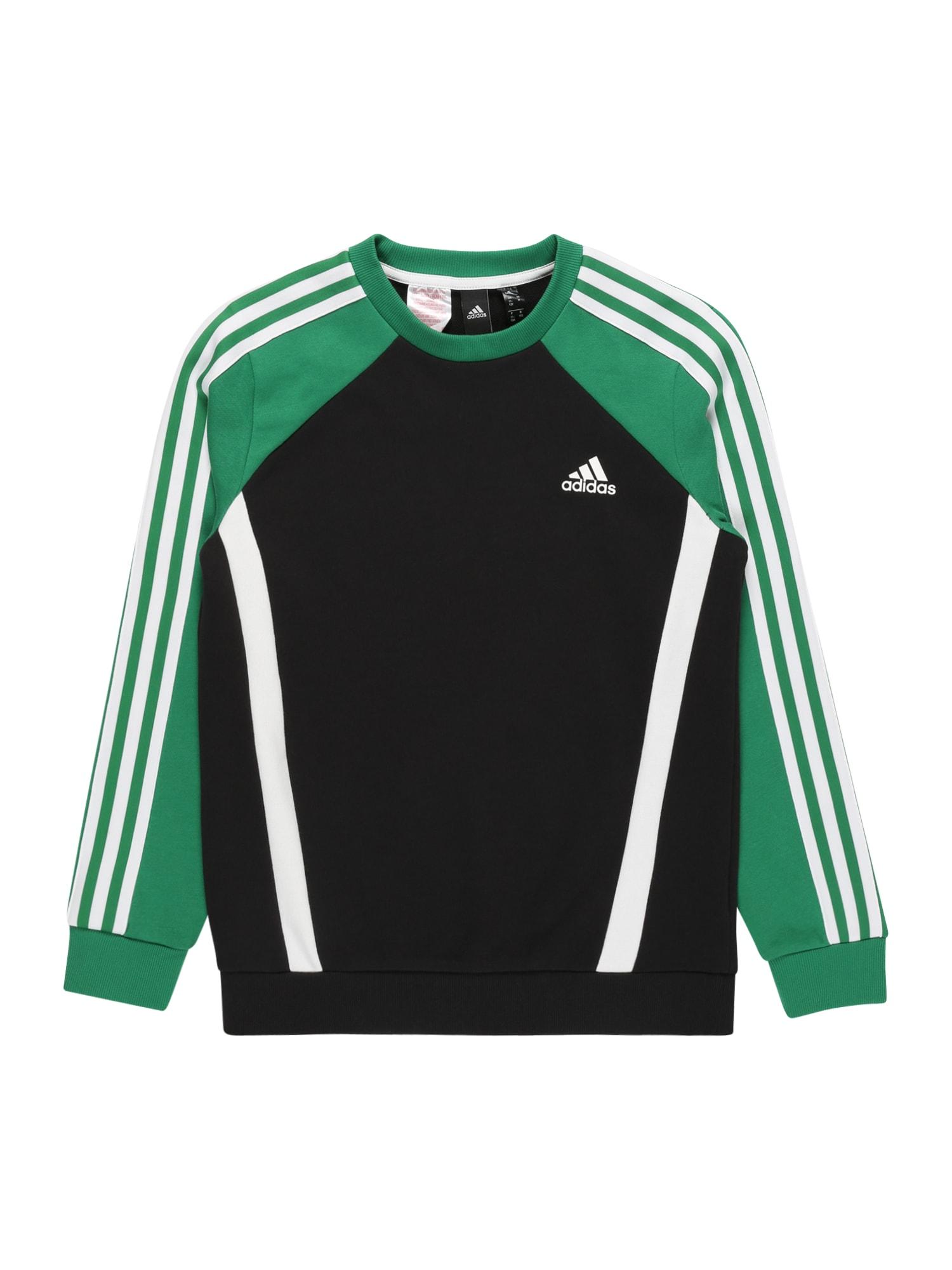 ADIDAS PERFORMANCE Sportinio tipo megztinis juoda / pastelinė žalia