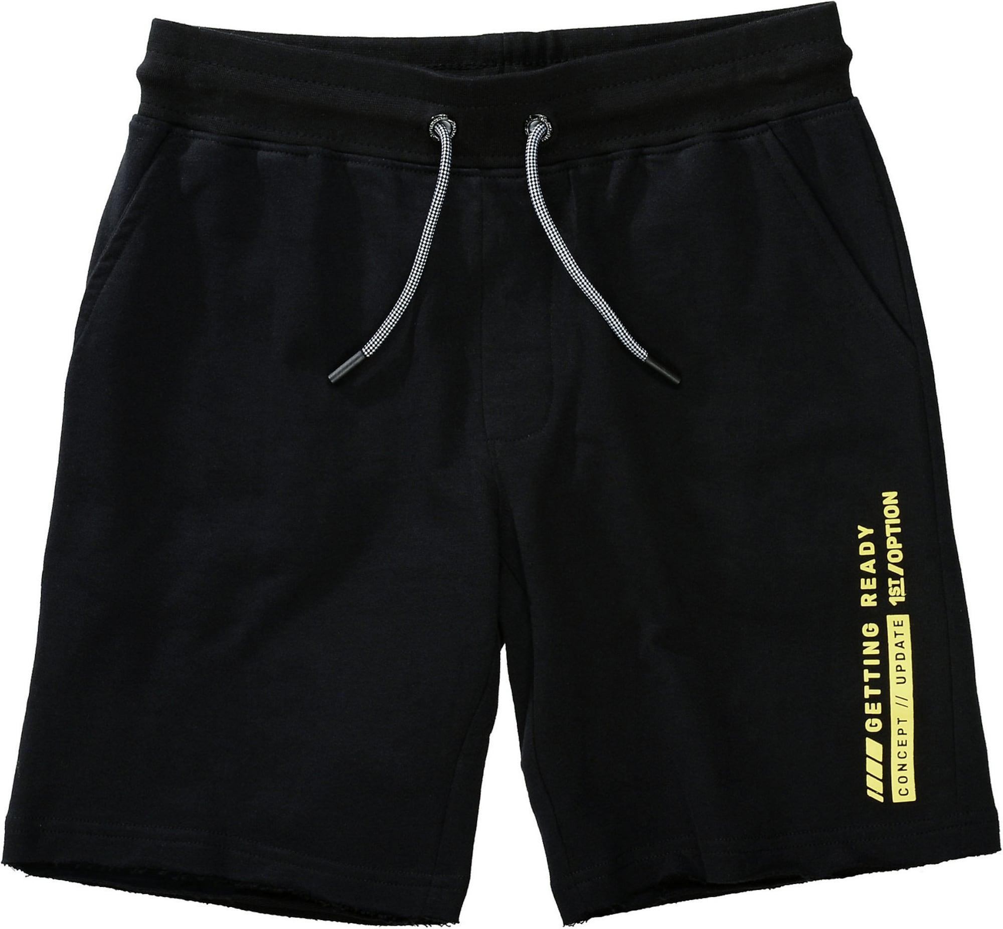 STACCATO Kelnės juoda / neoninė geltona