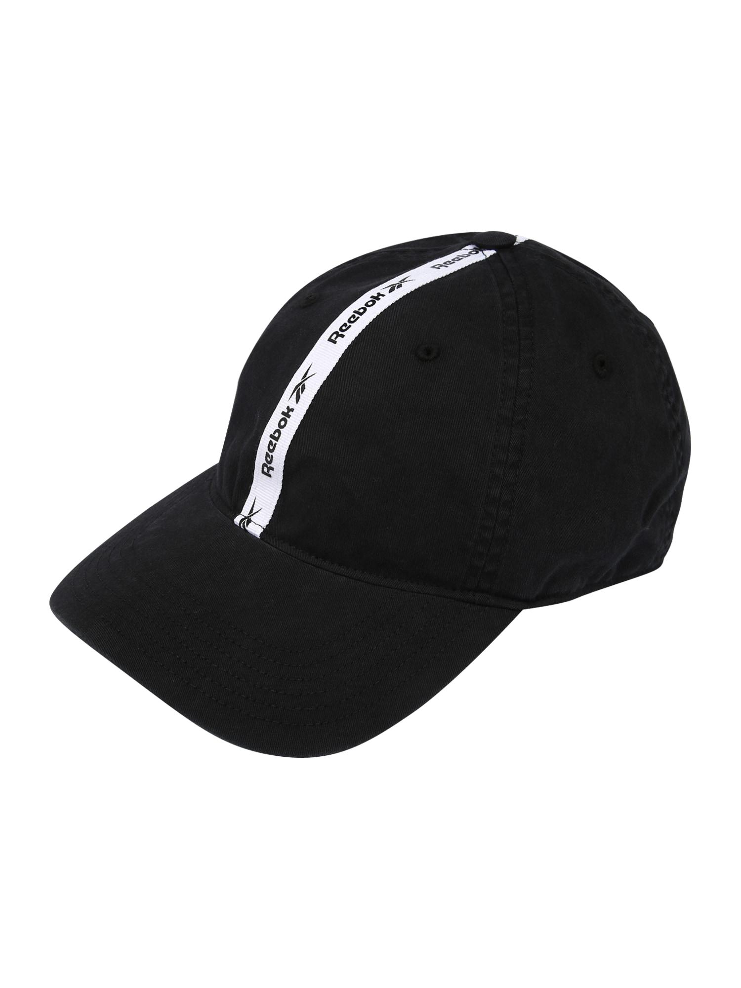 Reebok Classic Kepurė juoda / balta
