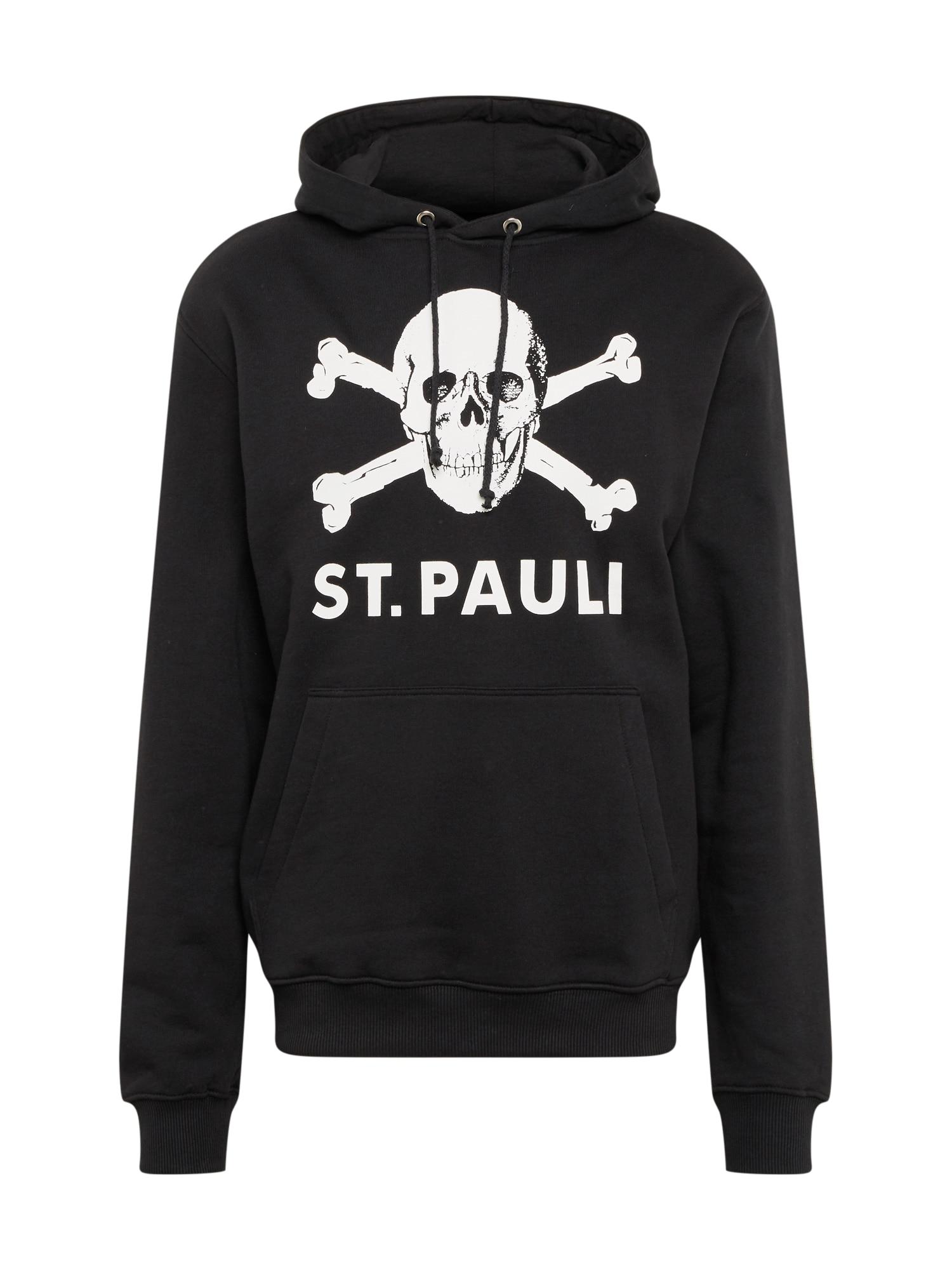 FC St. Pauli Megztinis be užsegimo balta / juoda