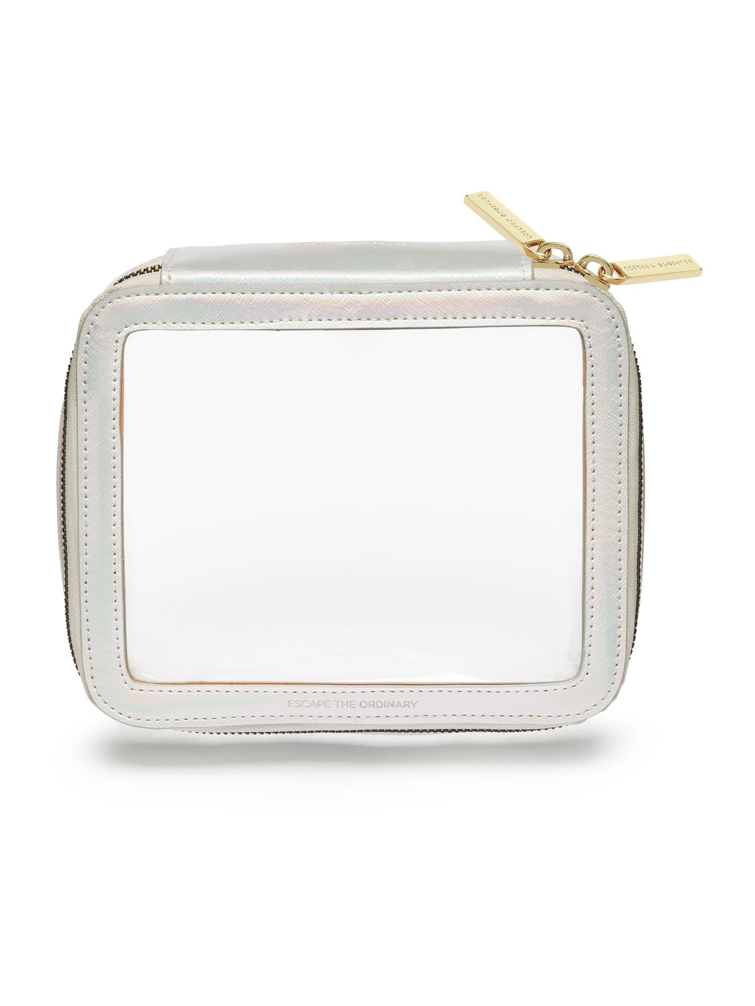 Estella Bartlett Tualeto reikmenų / kosmetikos krepšys skaidri spalva / balta