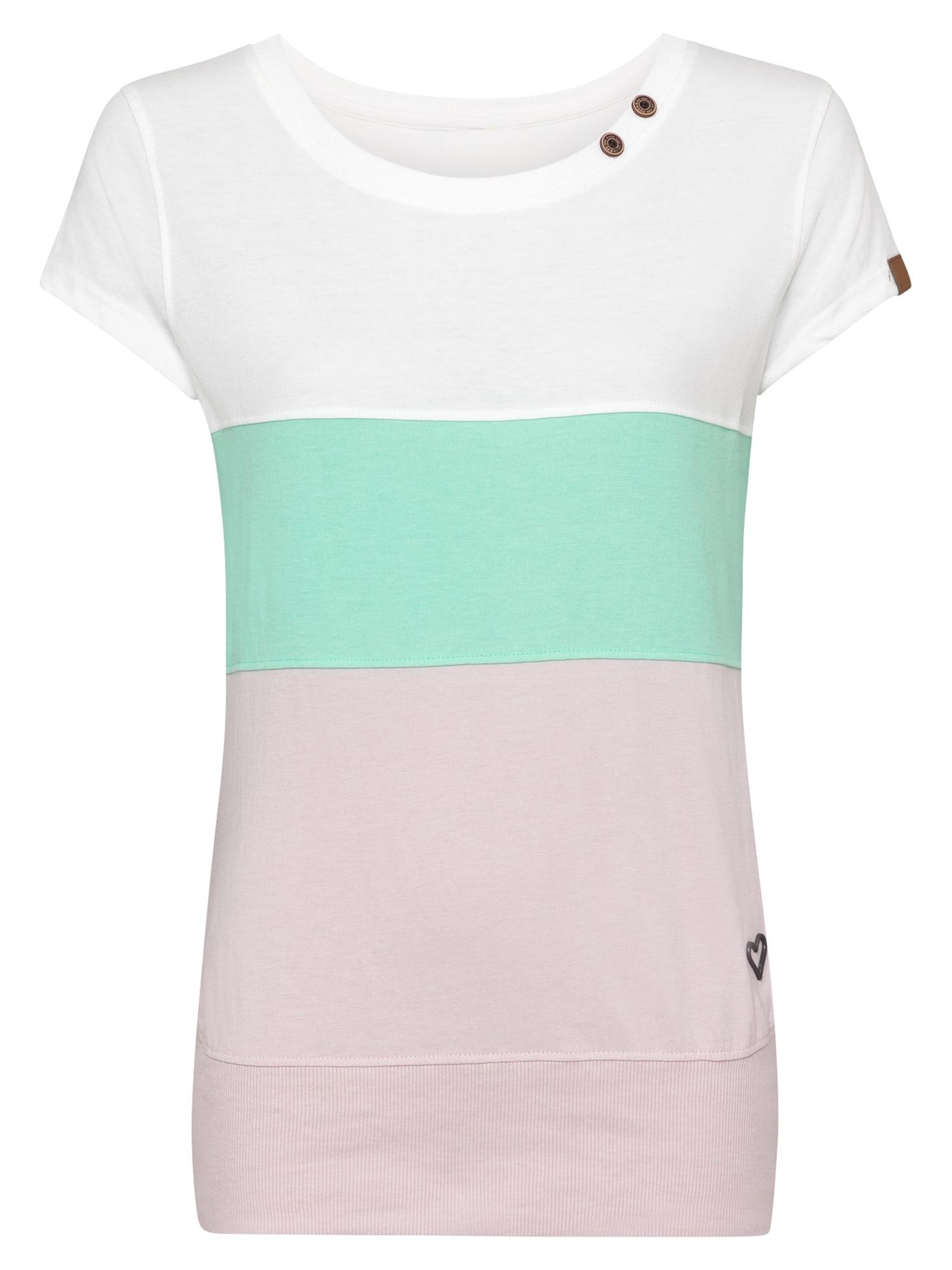 Alife and Kickin Marškinėliai balta / pastelinė rožinė / nefrito spalva