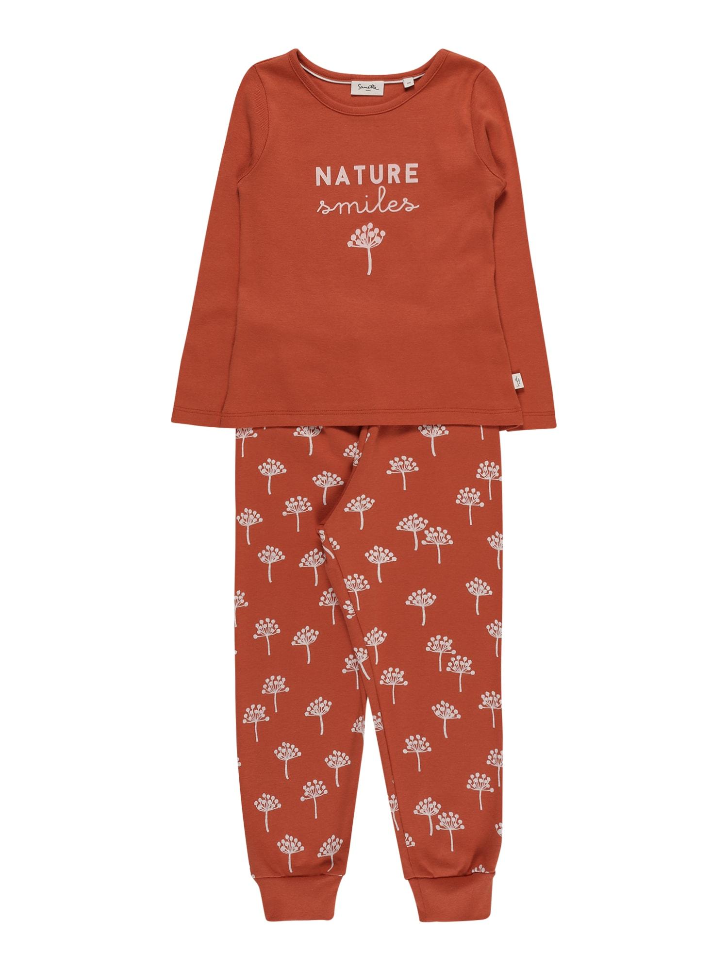 Sanetta Pure Miego kostiumas rūdžių raudona / kremo
