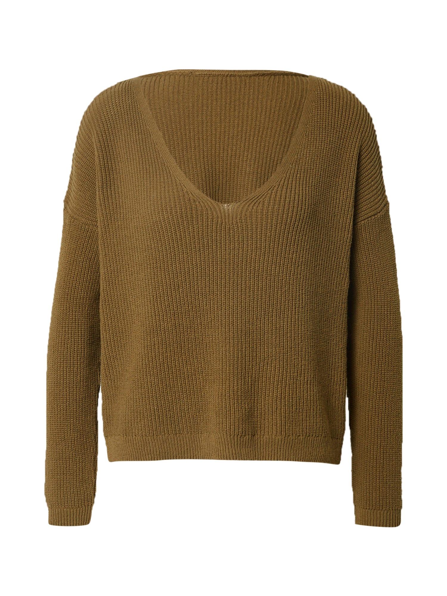 ONLY Megztinis 'Fbrynn' tamsiai žalia