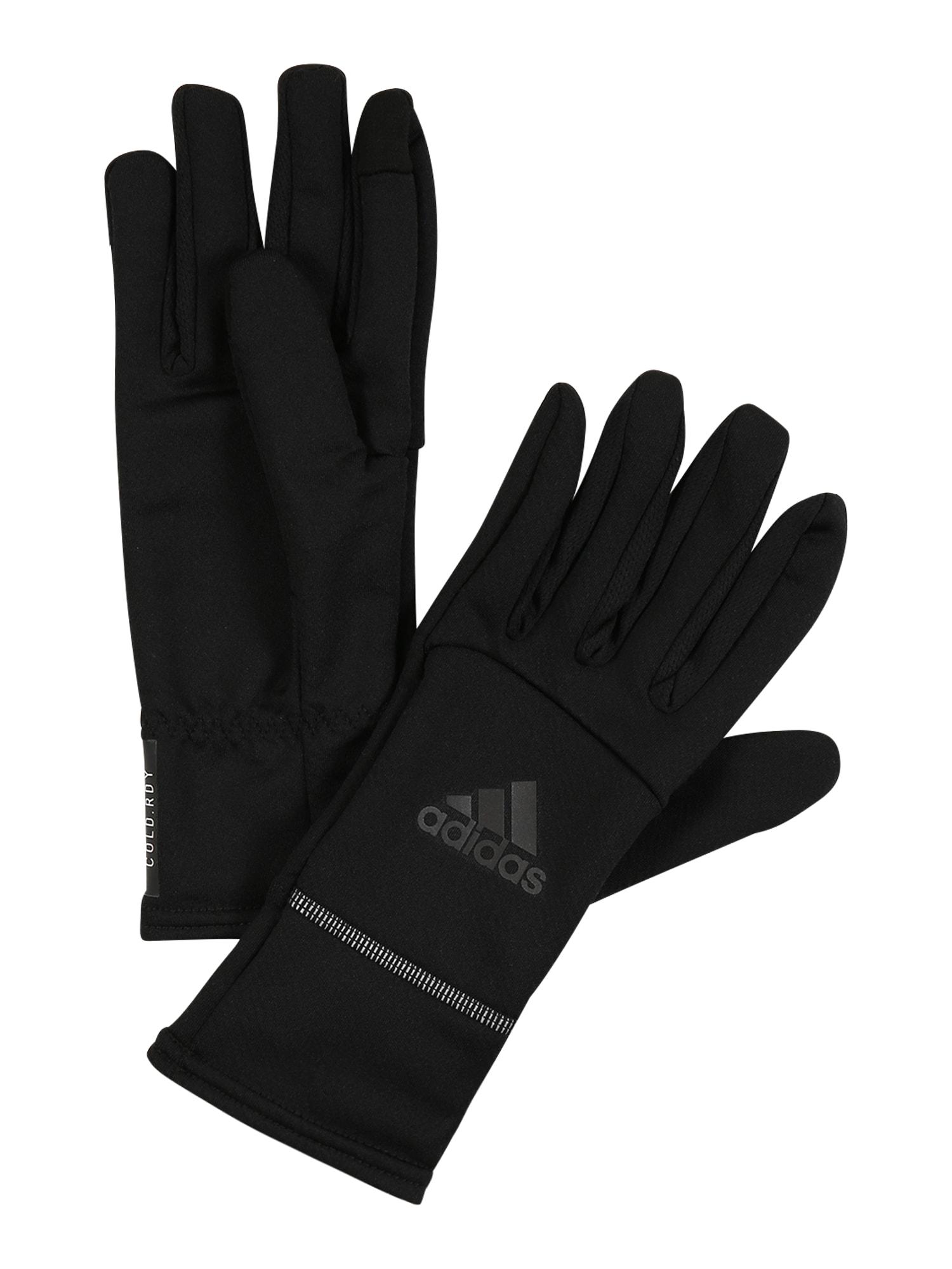 ADIDAS PERFORMANCE Sportinės pirštinės juoda / pilka / balta
