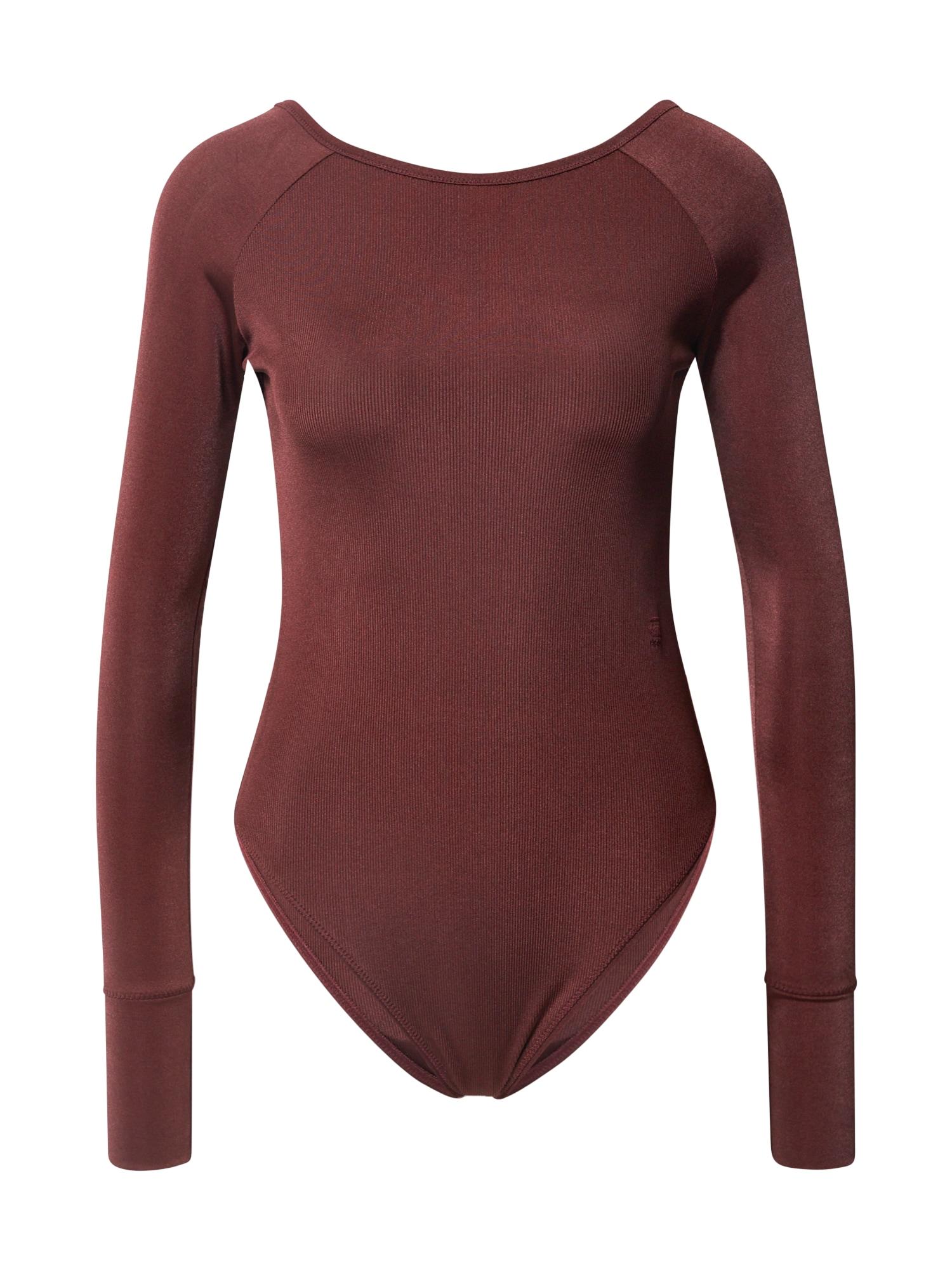 G-Star RAW Marškinėliai-glaustinukė tamsiai raudona