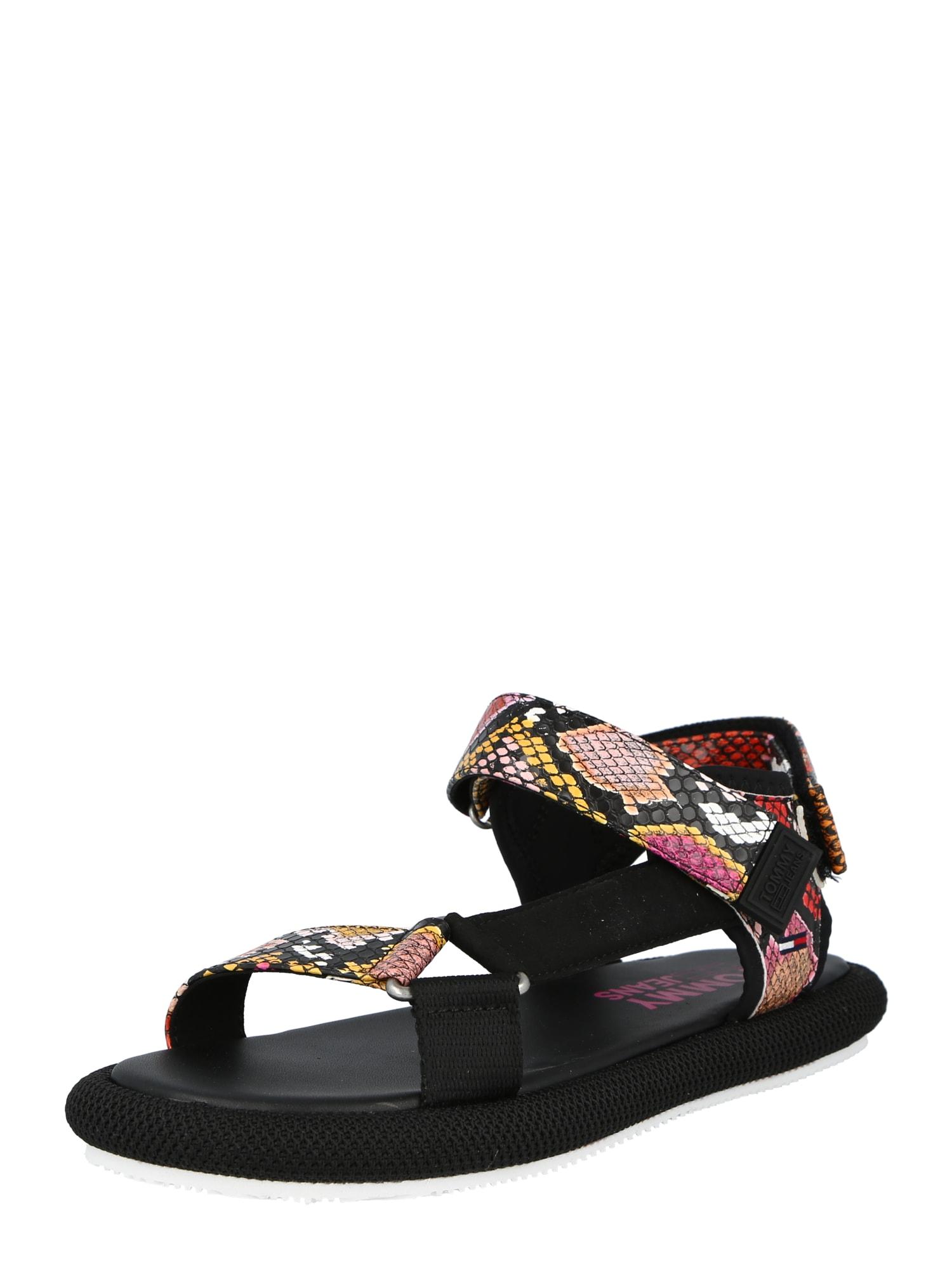 Tommy Jeans Sandalai juoda / mišrios spalvos