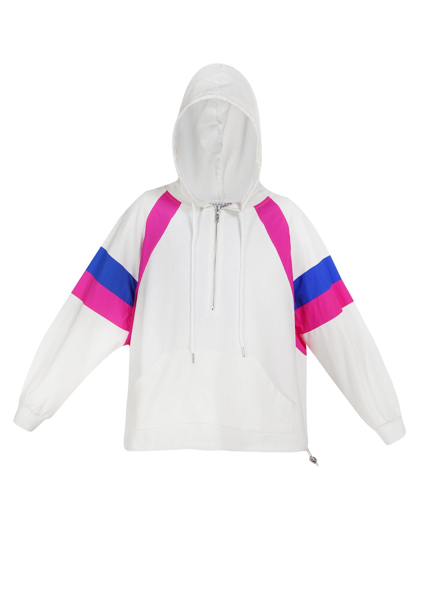 myMo ATHLSR Džemperis treniruotėms mėlyna / rožinė / balta