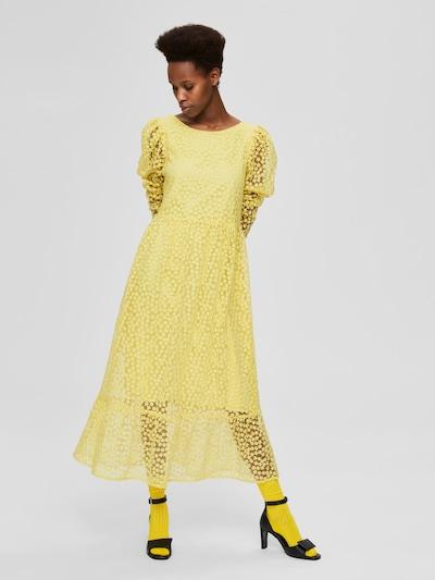 Selected Femme Mya Puff Sheer Sleeve Maxi Dress
