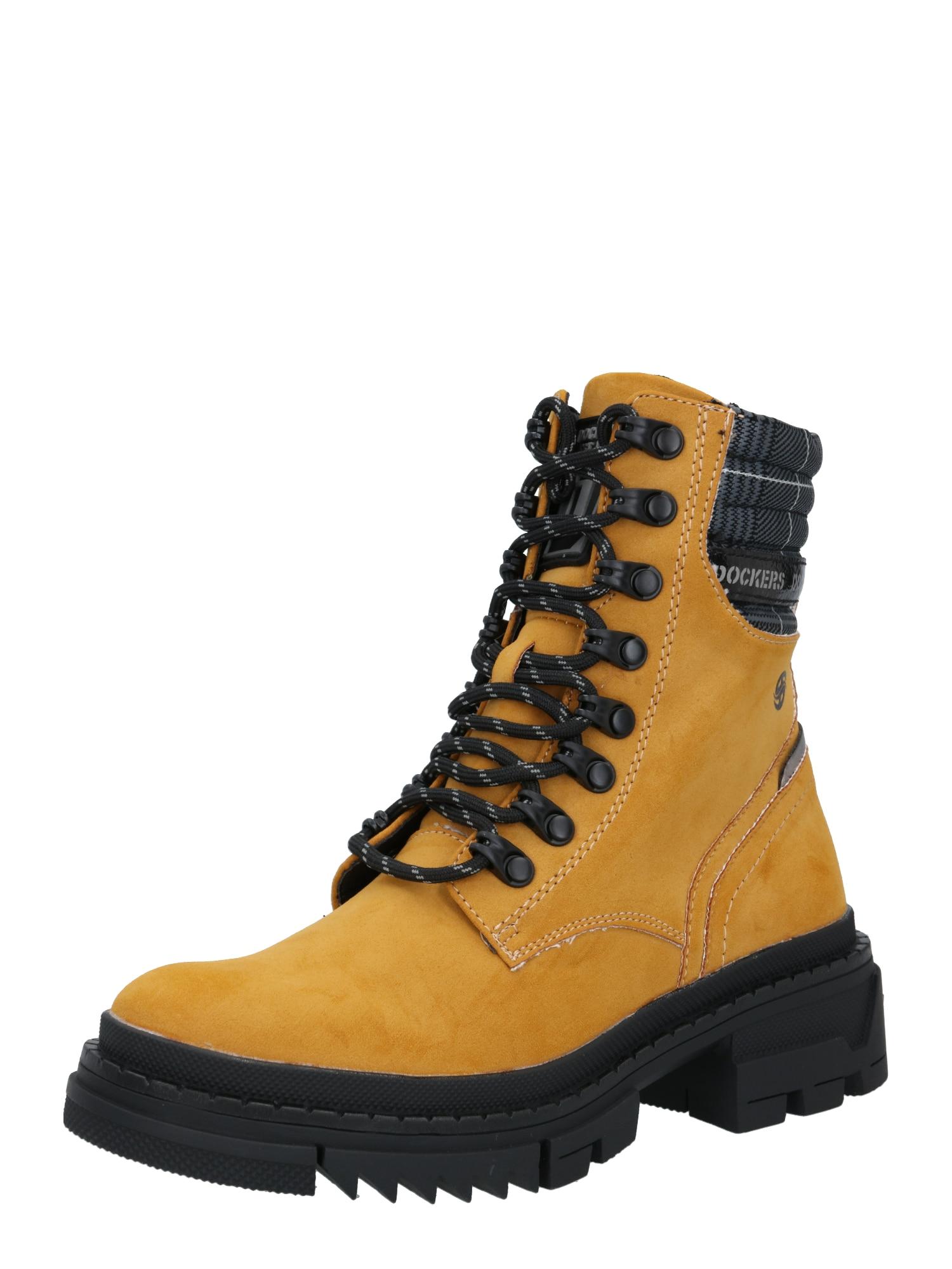 Dockers by Gerli Auliniai batai juoda / aukso geltonumo spalva
