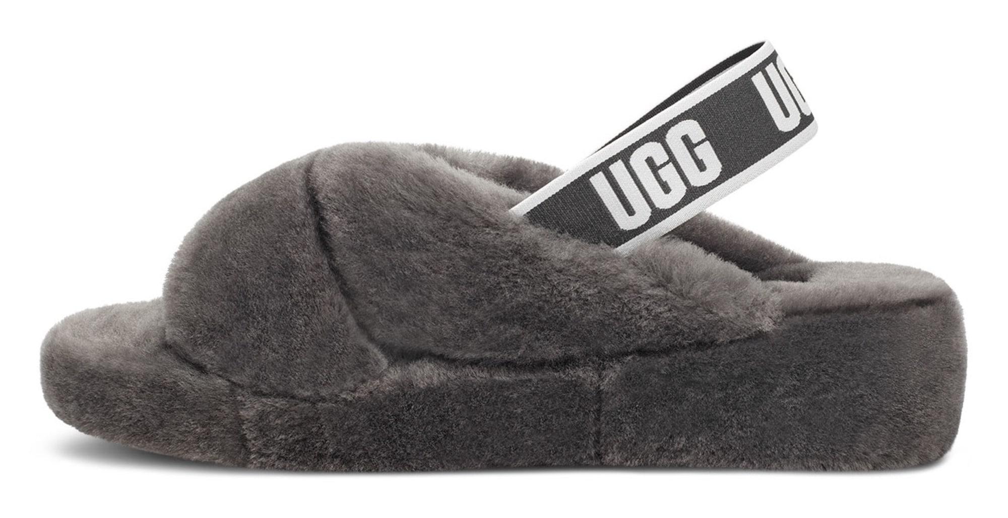 UGG Naminės šlepetės pilka / juoda / balta