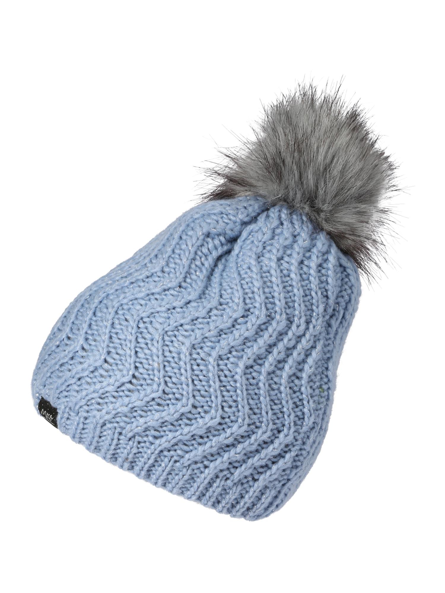 MAXIMO Megzta kepurė šviesiai mėlyna / margai pilka