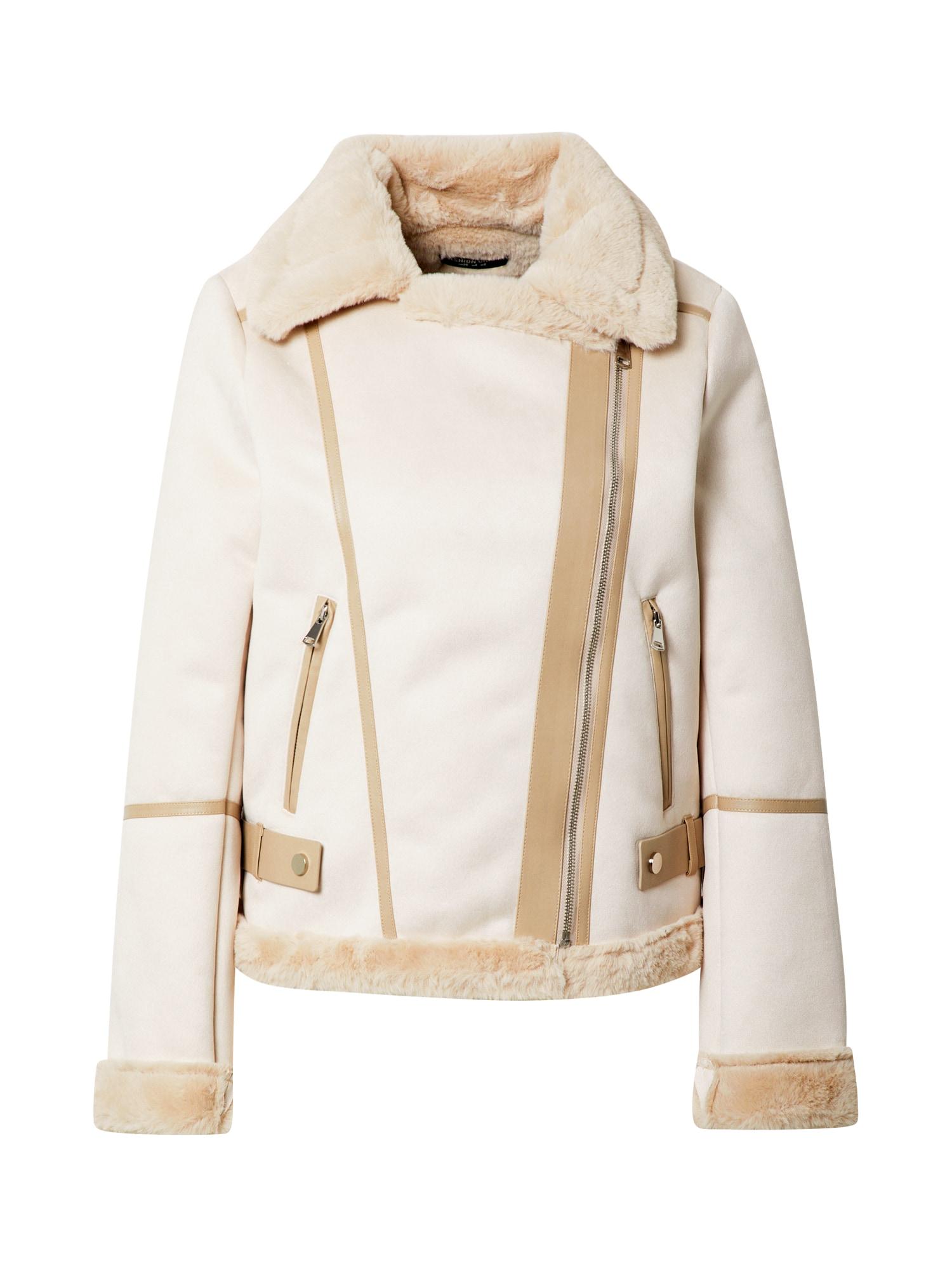 Fashion Union Zimní bunda 'Vivienne'  růžová / béžová