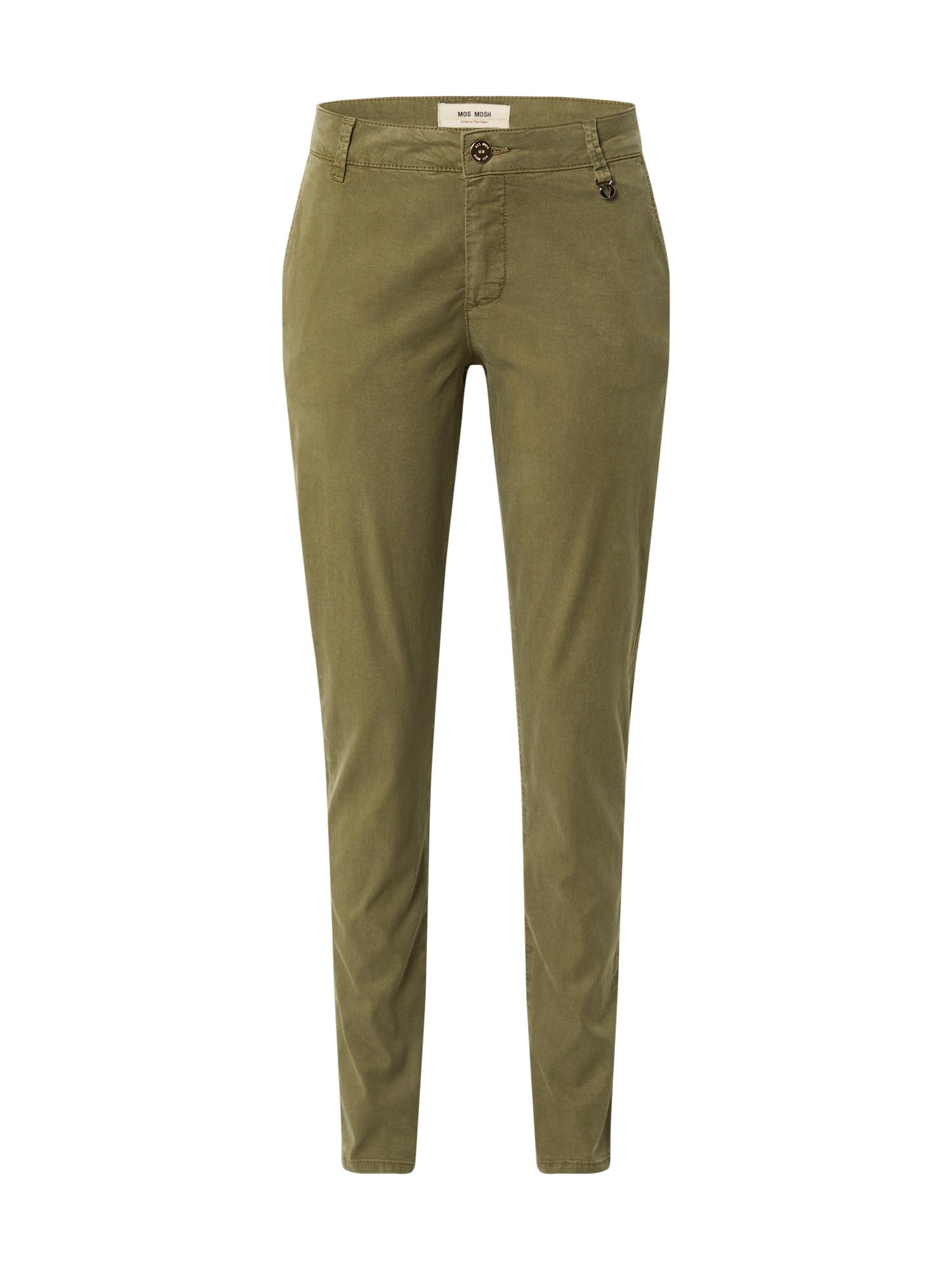 """MOS MOSH """"Chino"""" stiliaus kelnės 'Perry' tamsiai žalia"""