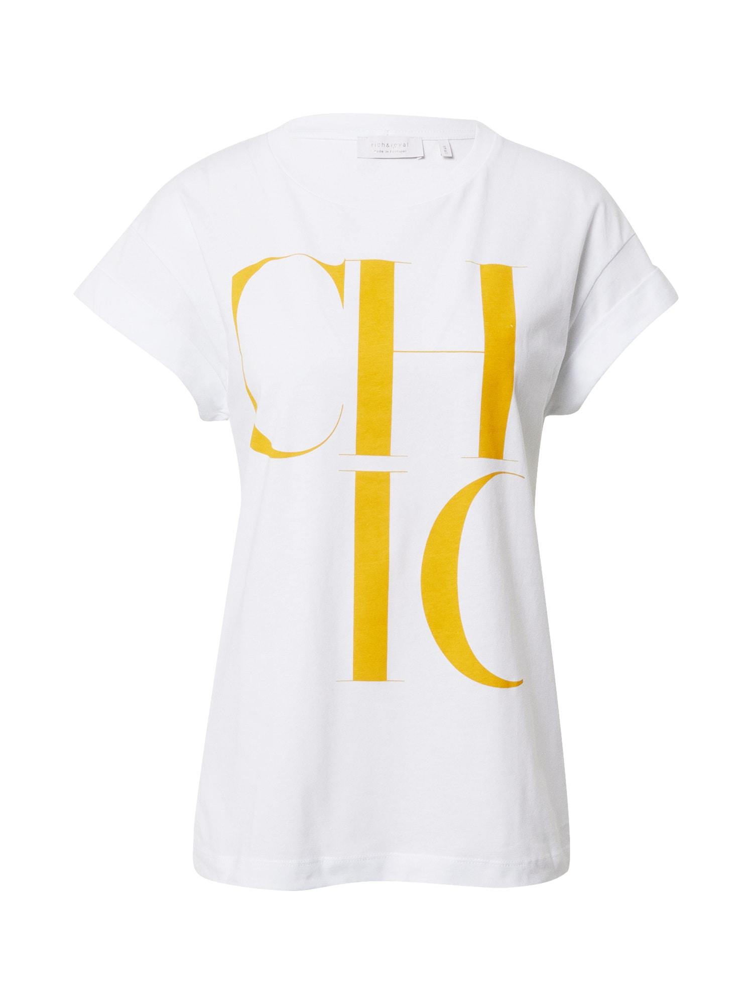 Rich & Royal Marškinėliai geltona / balta
