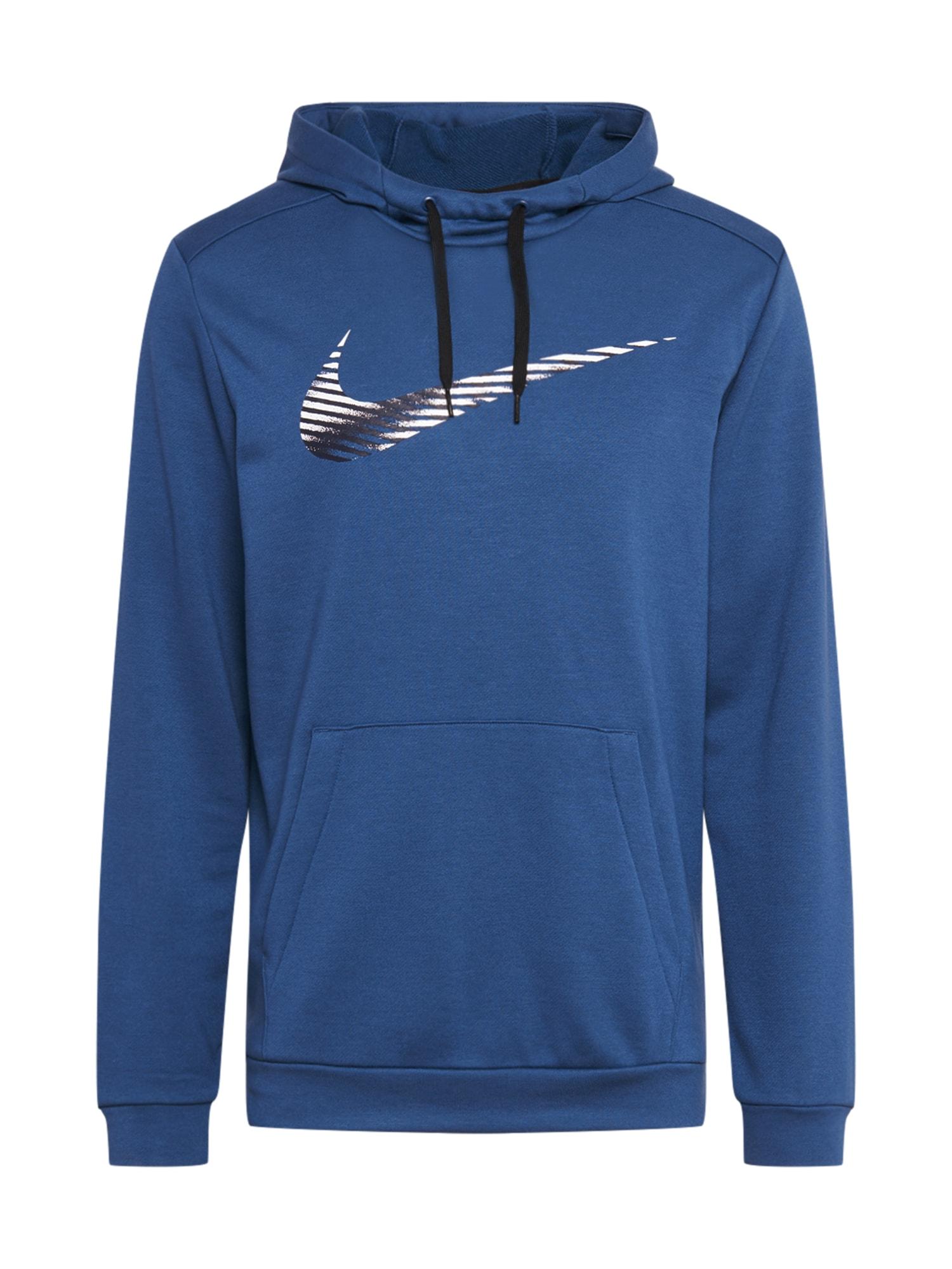 NIKE Sportinio tipo megztinis 'Nike Dri-FIT' tamsiai mėlyna