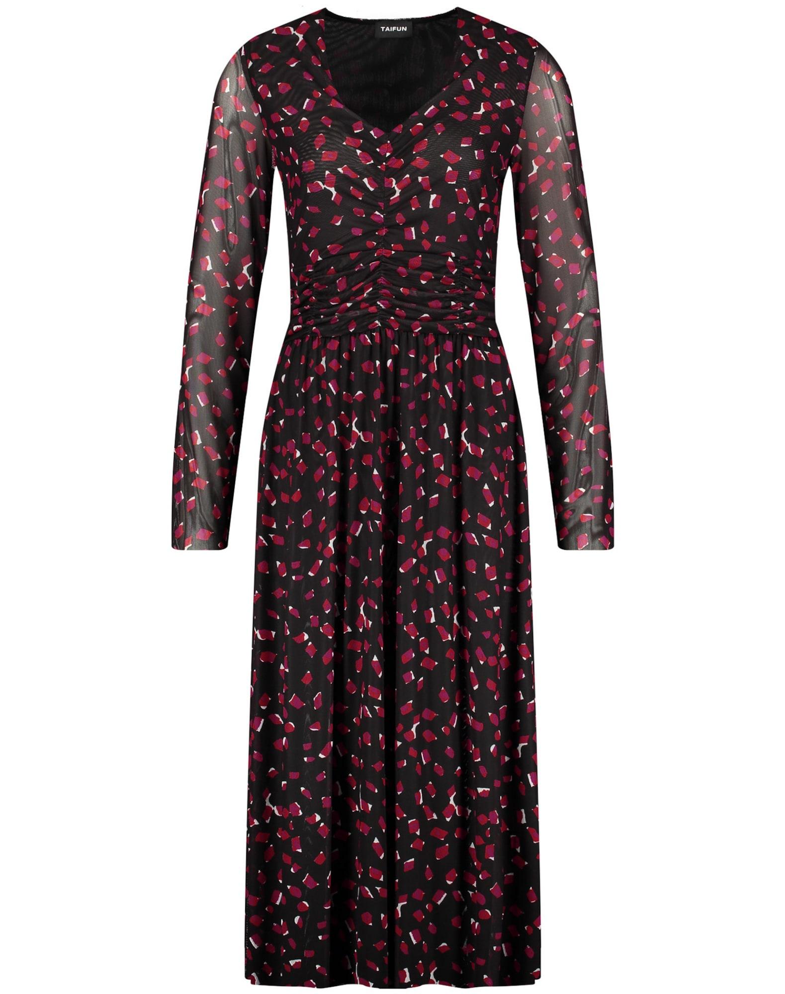 TAIFUN Šaty  černá / červená / malinová / bílá