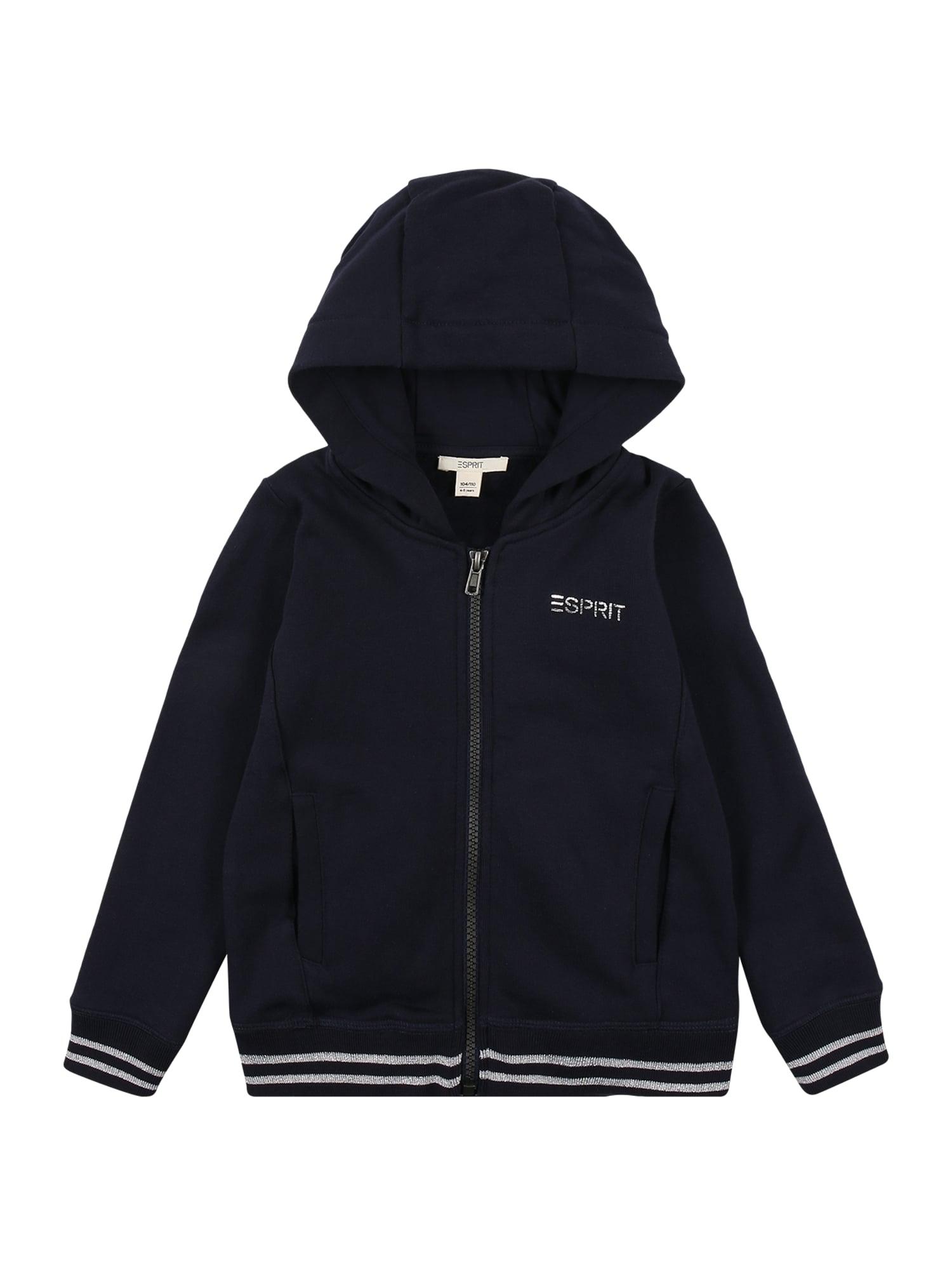 ESPRIT Džemperis tamsiai mėlyna / balta