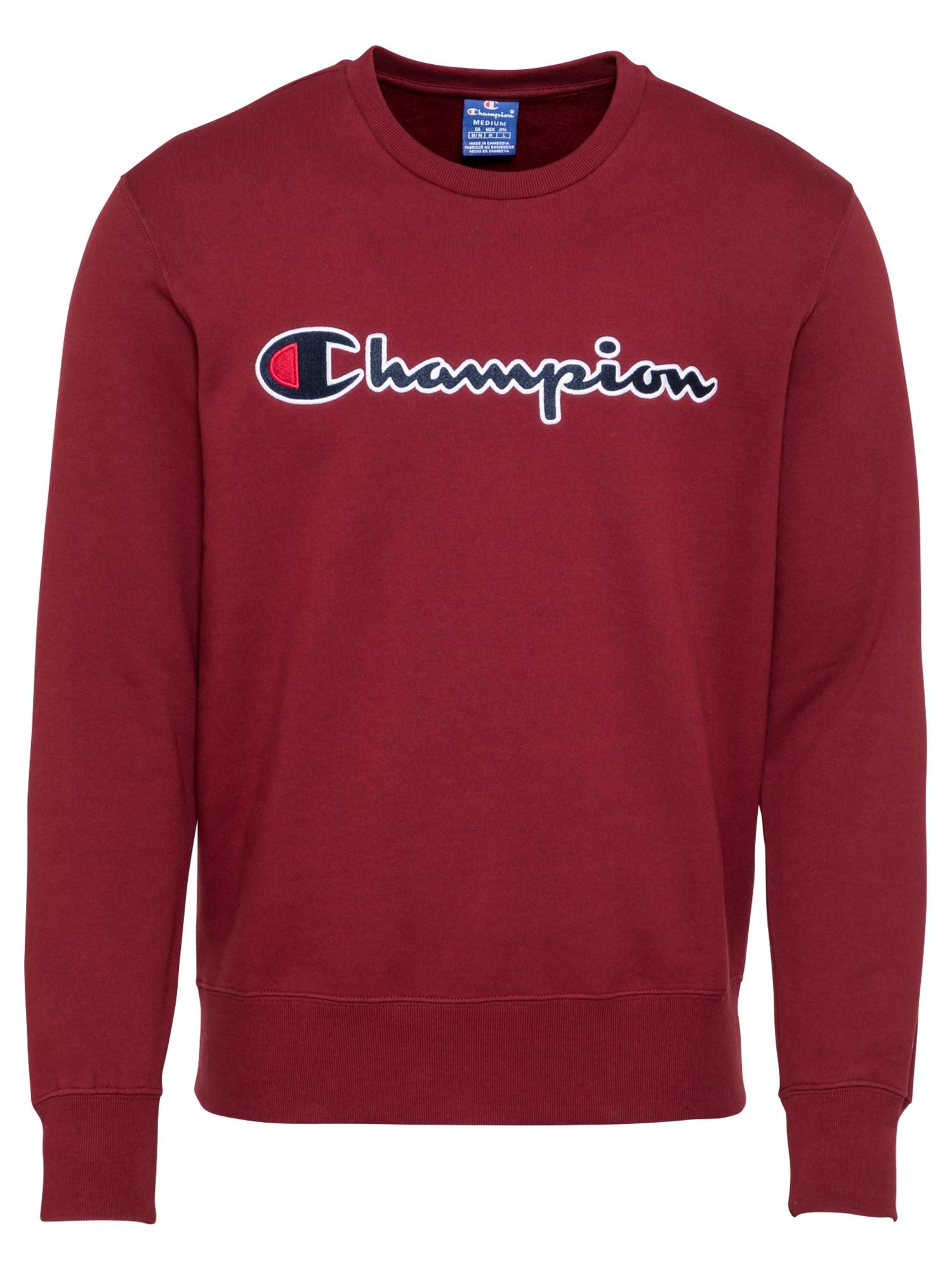 Champion Authentic Athletic Apparel Megztinis be užsegimo vyšninė spalva