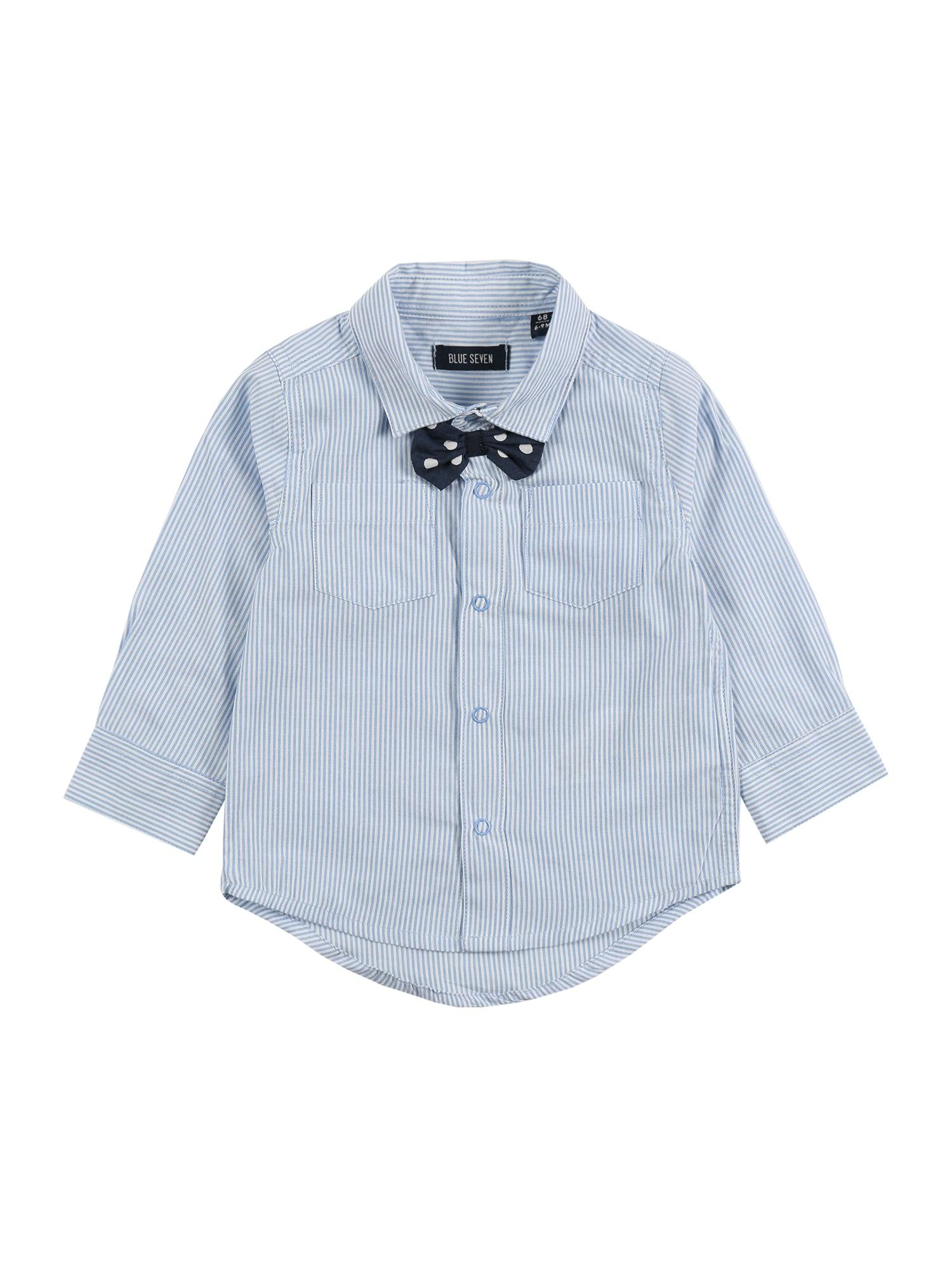 BLUE SEVEN Marškiniai šviesiai mėlyna / balta