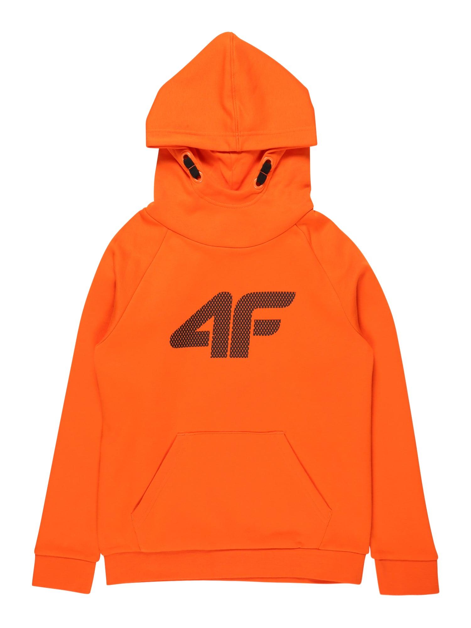4F Sportinio tipo megztinis oranžinė / nakties mėlyna