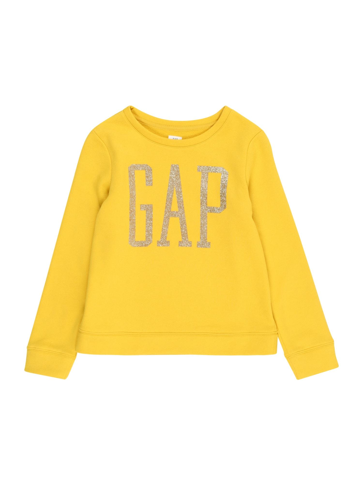 GAP Megztinis be užsegimo geltona / auksas