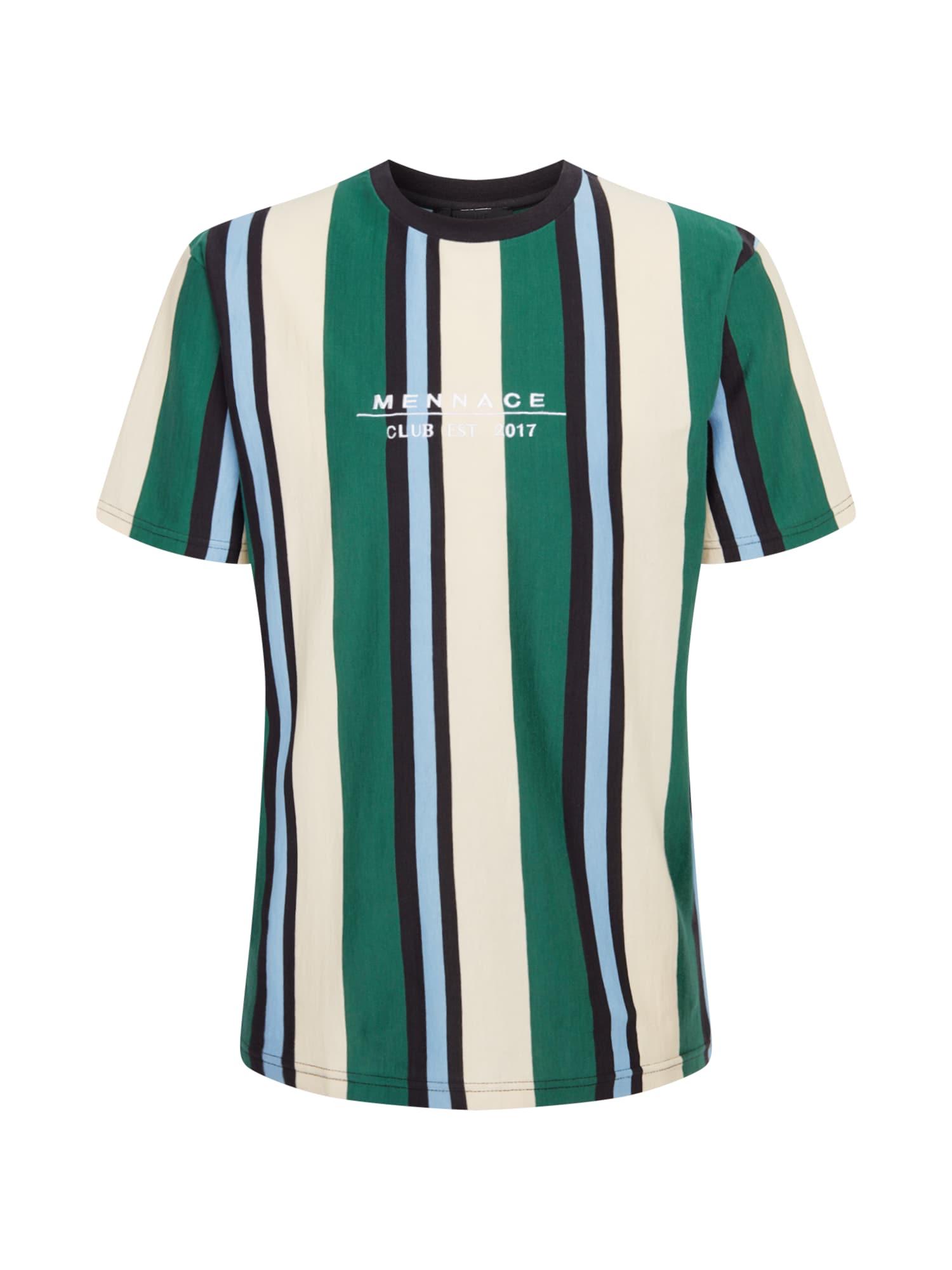Mennace Marškinėliai tamsiai mėlyna / šviesiai mėlyna / balta / benzino spalva