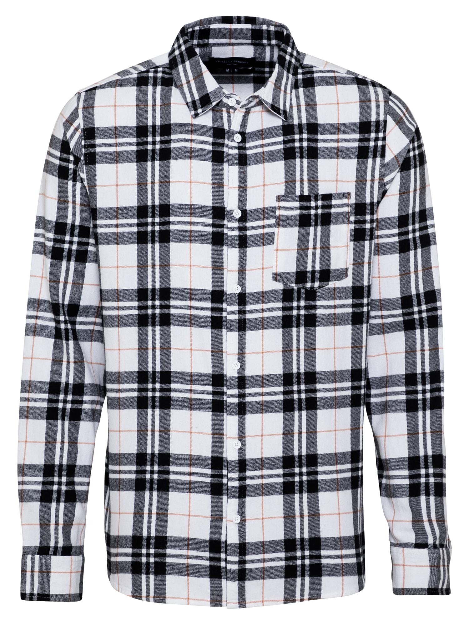 Cotton On Marškiniai tamsiai pilka / juoda / balta / rūdžių raudona