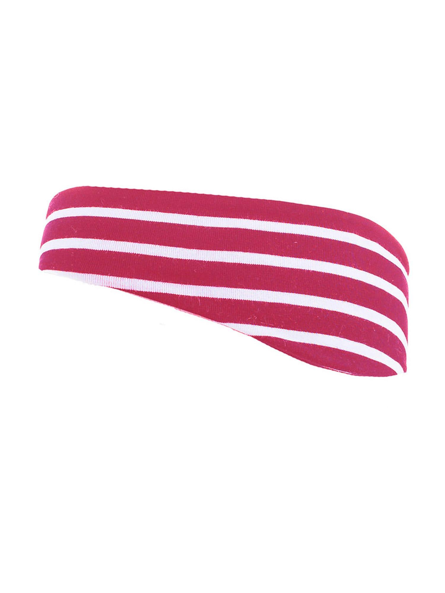 MAXIMO Megzta kepurė balta / tamsiai rožinė