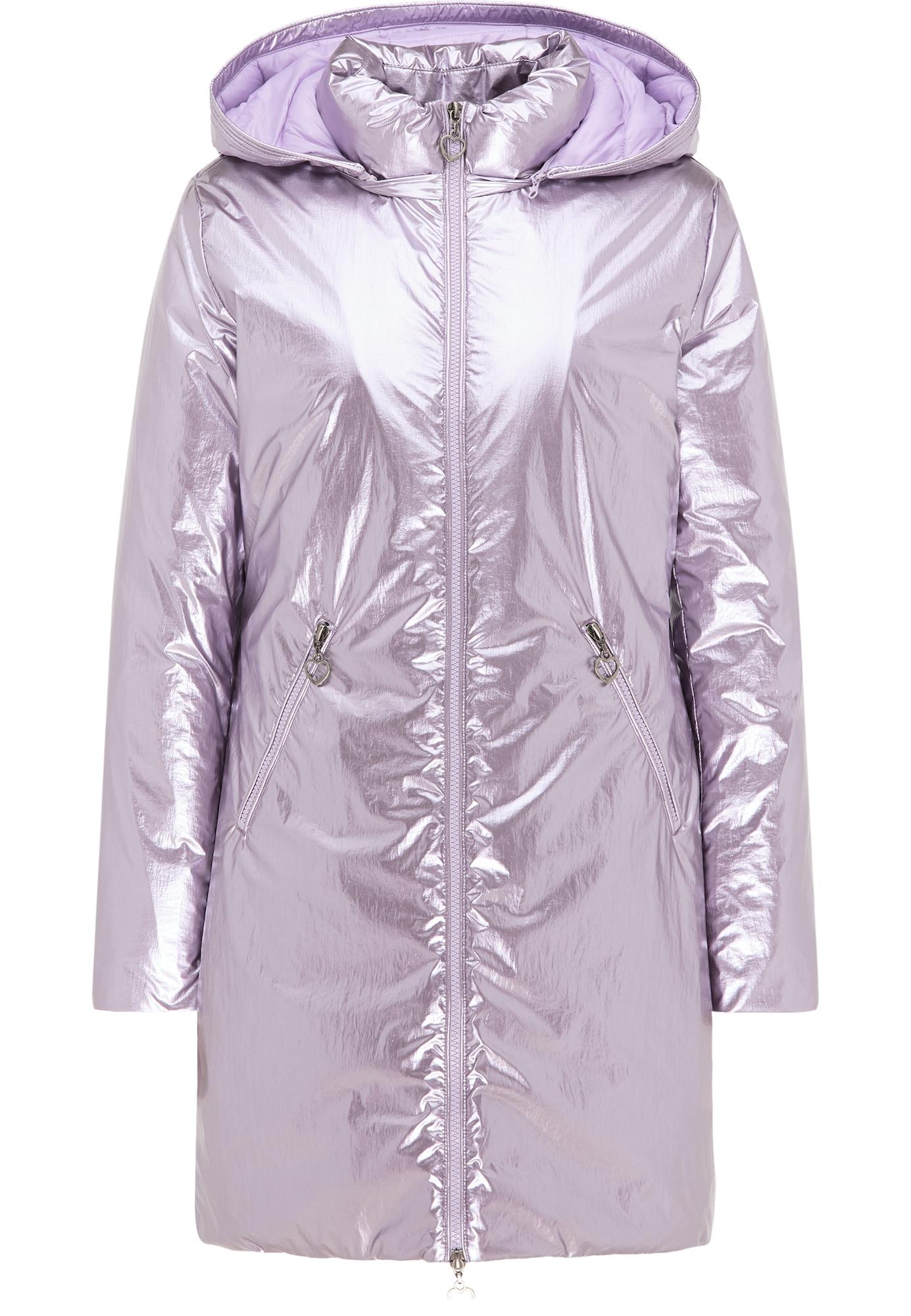 MYMO Žieminis paltas alyvinė spalva