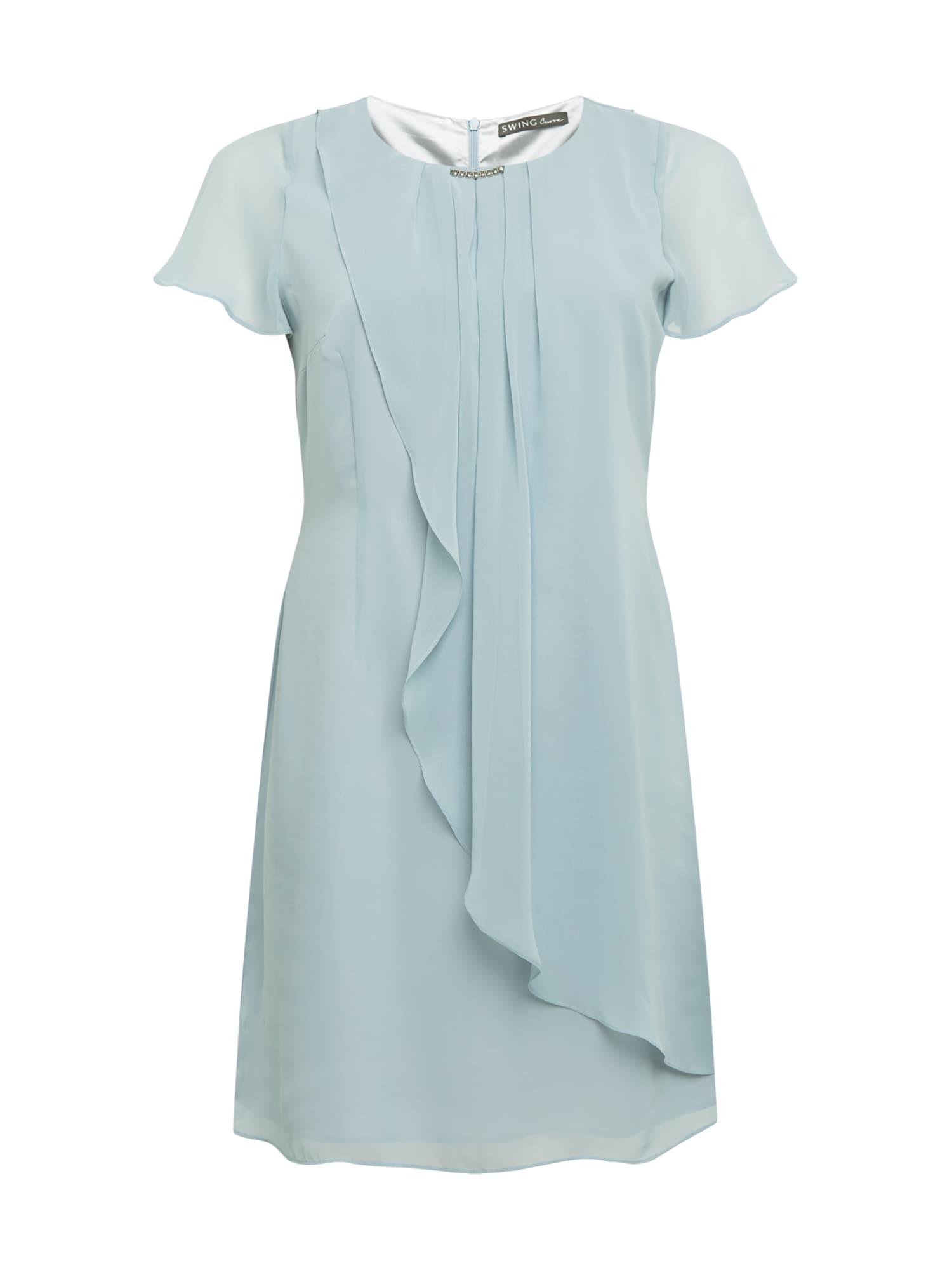 SWING Curve Kokteilinė suknelė pastelinė mėlyna
