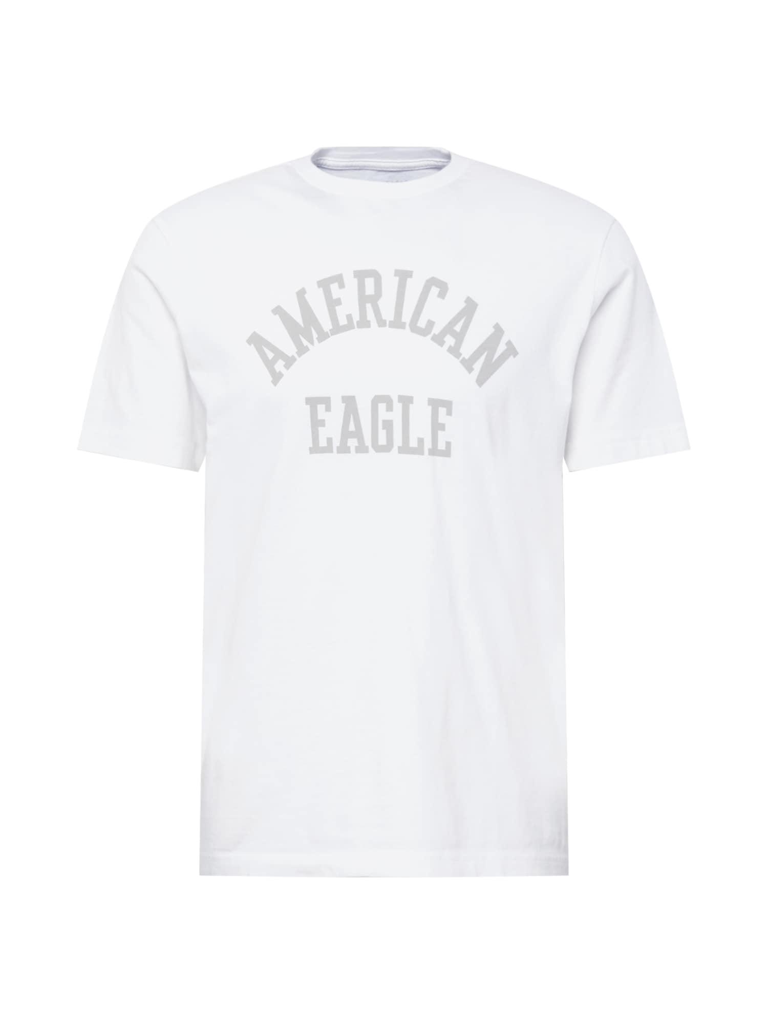 American Eagle Tričko  bílá / šedá