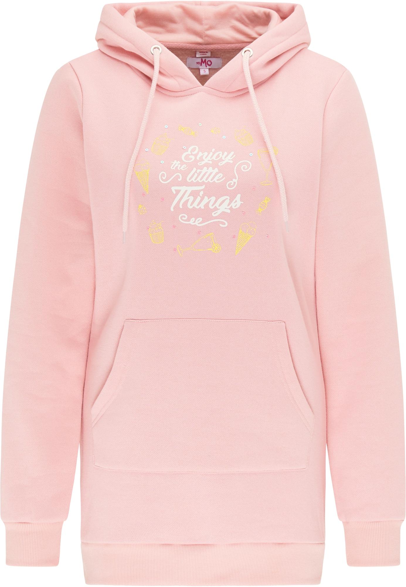 MYMO Megztinis be užsegimo balta / šviesiai rožinė / žaliosios citrinos spalva