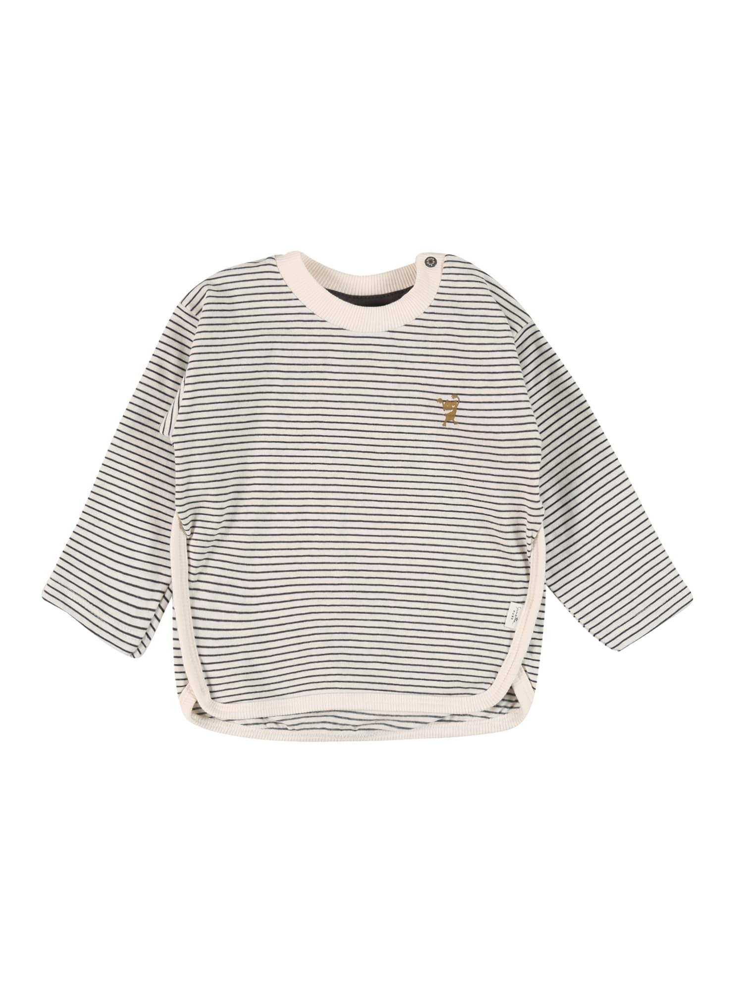 Sanetta Pure Marškinėliai balta / tamsiai pilka / garstyčių spalva