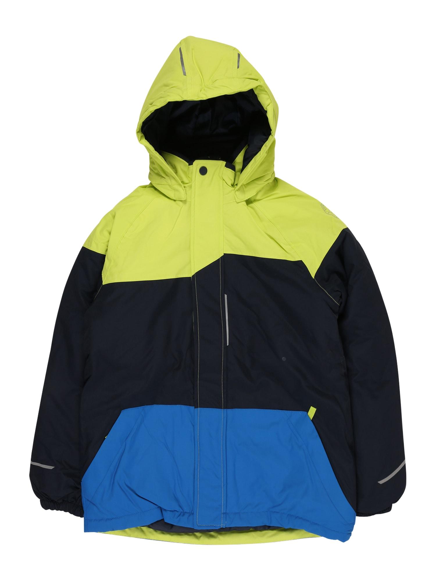 NAME IT Funkčná bunda 'Snow 03'  modrá / zelená