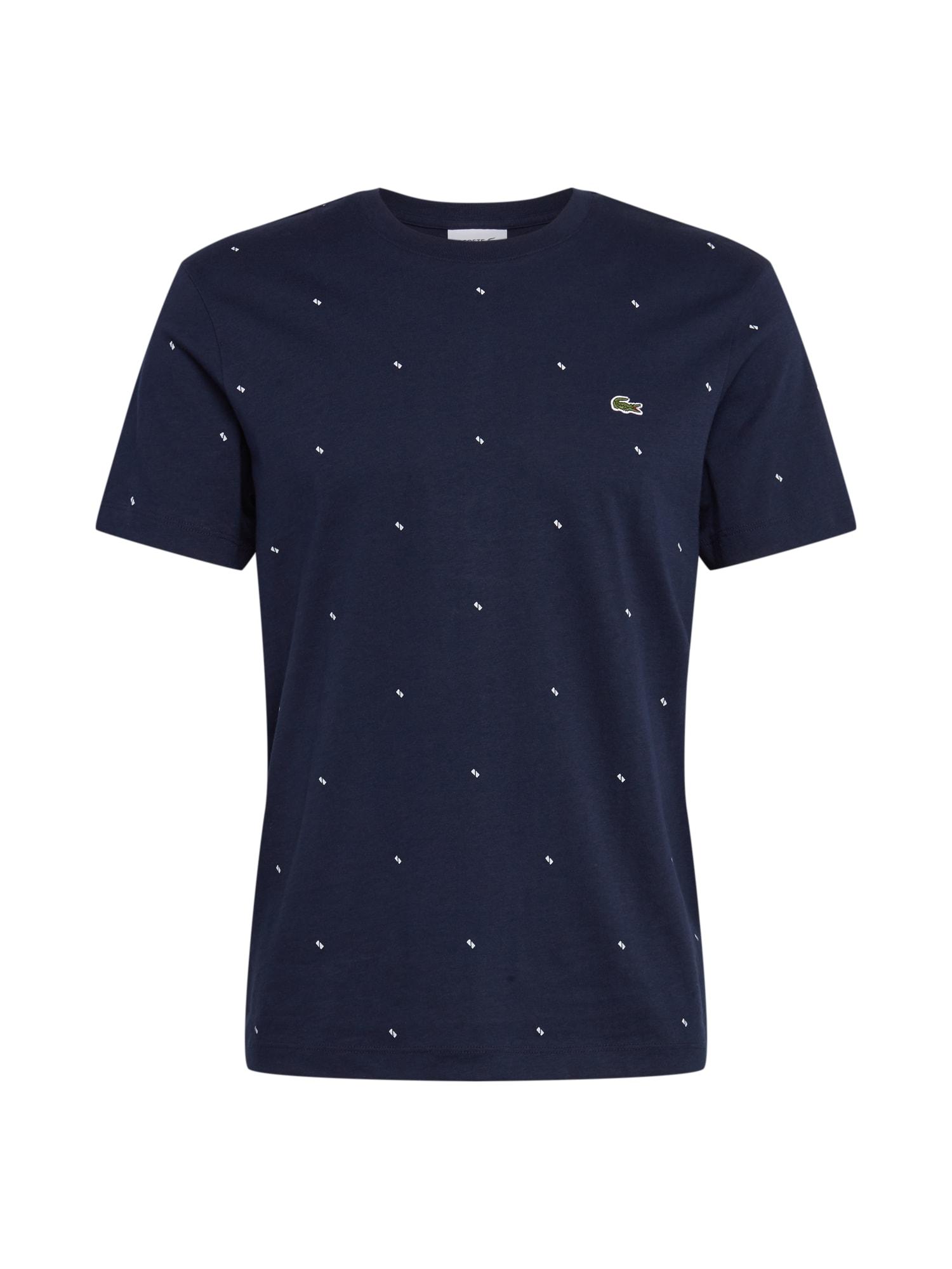 LACOSTE Tričko  tmavě modrá / bílá / světle zelená