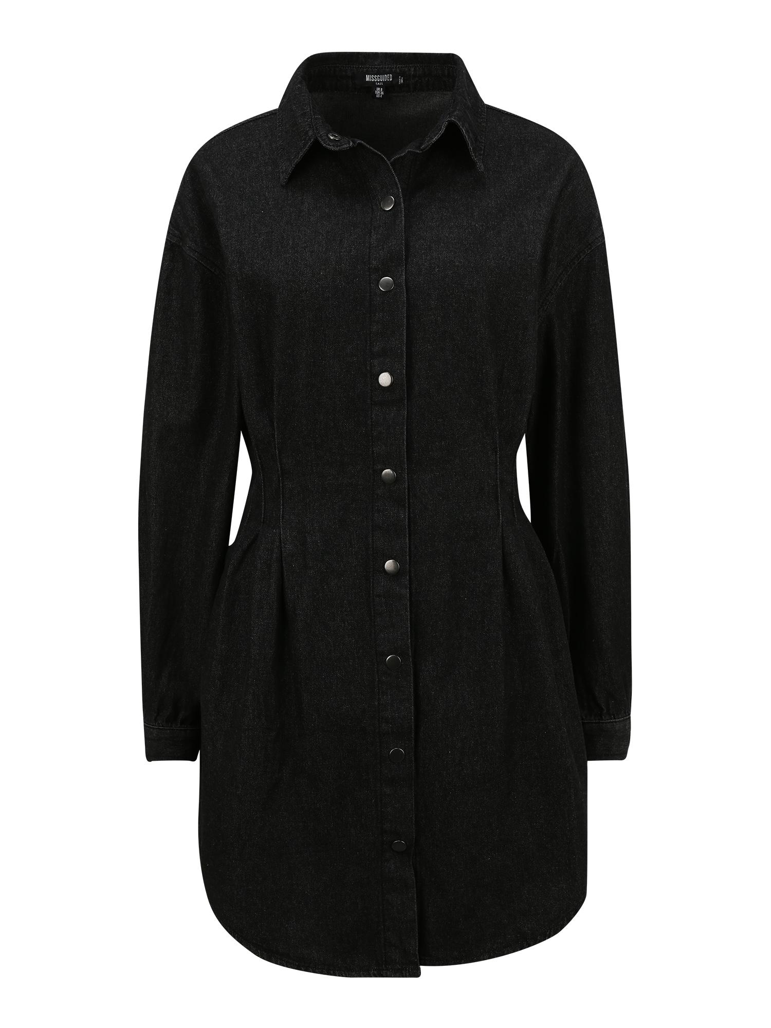 Missguided (Tall) Palaidinės tipo suknelė juodo džinso spalva