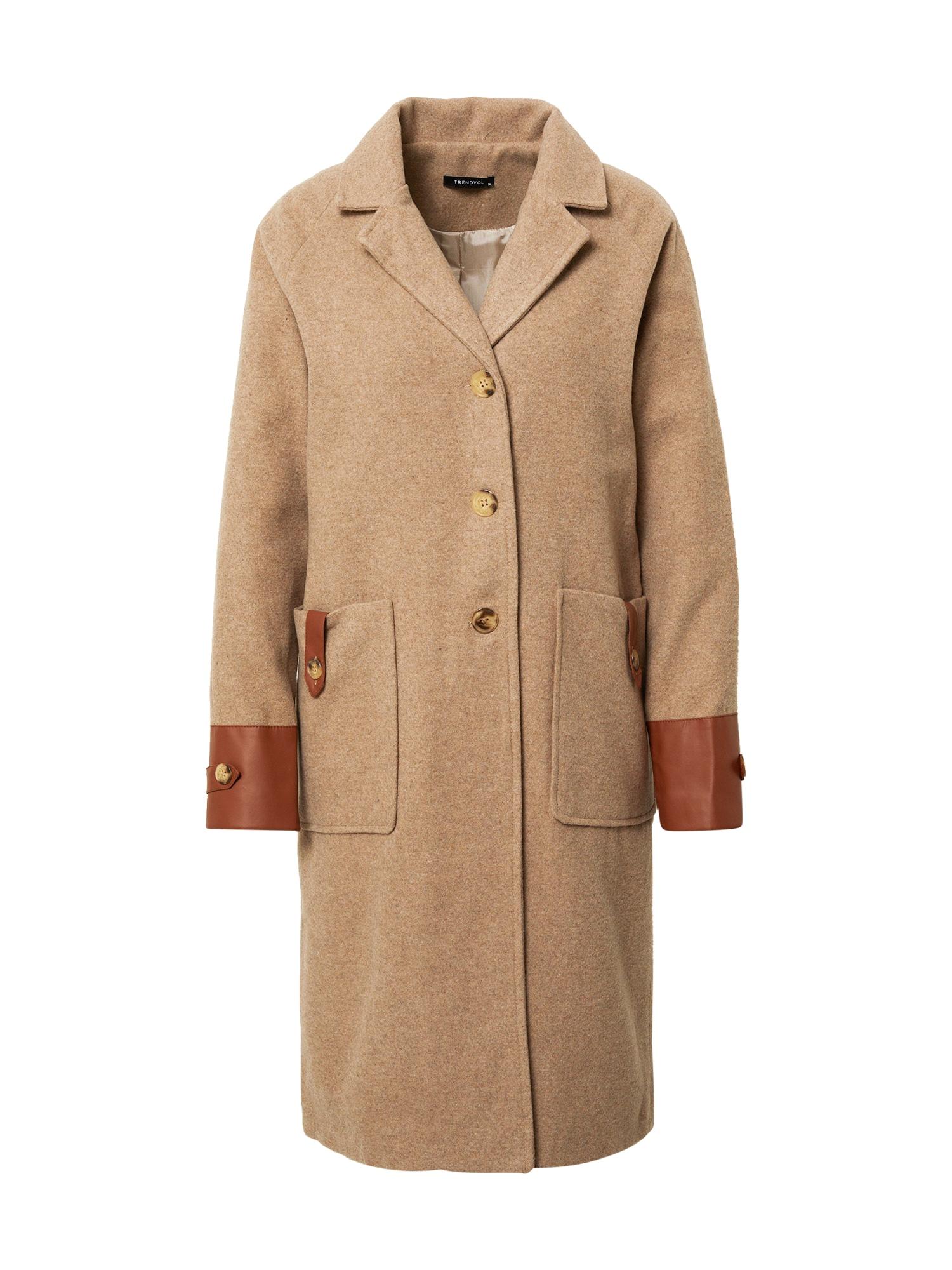 Trendyol Demisezoninis paltas ruda