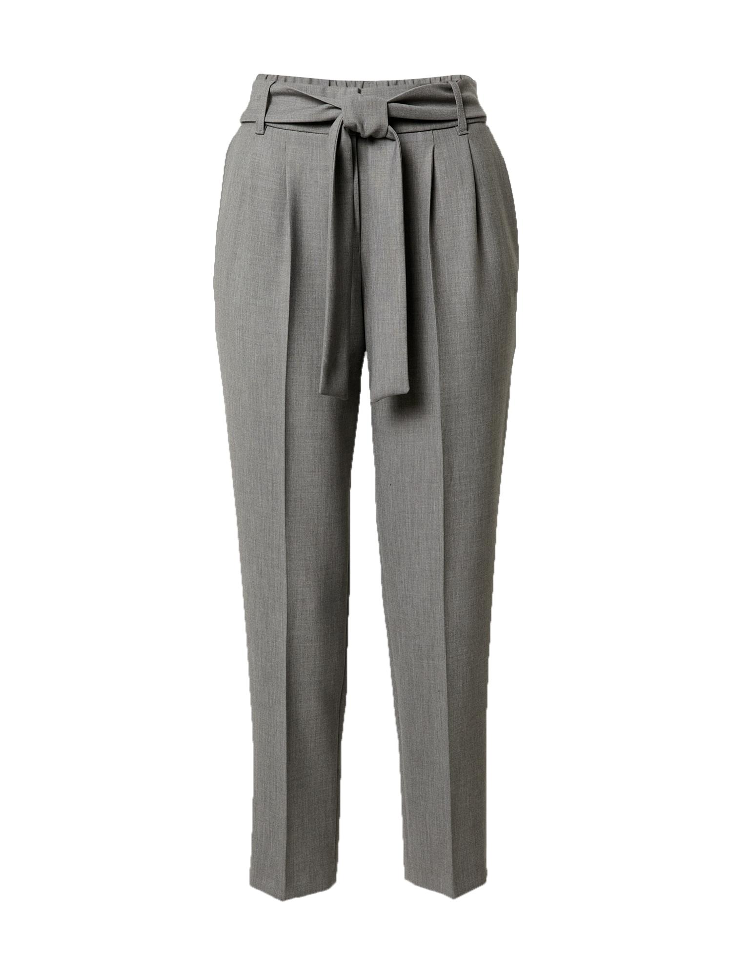 s.Oliver BLACK LABEL Kelnės su kantu pilka