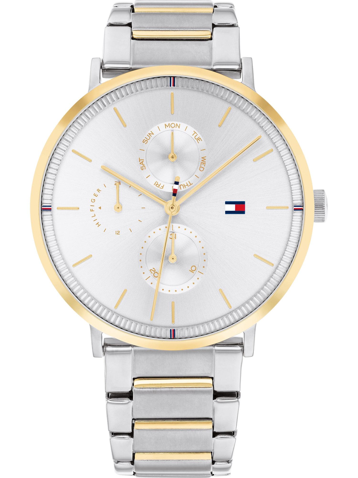 TOMMY HILFIGER Analoginis (įprasto dizaino) laikrodis auksas / sidabrinė