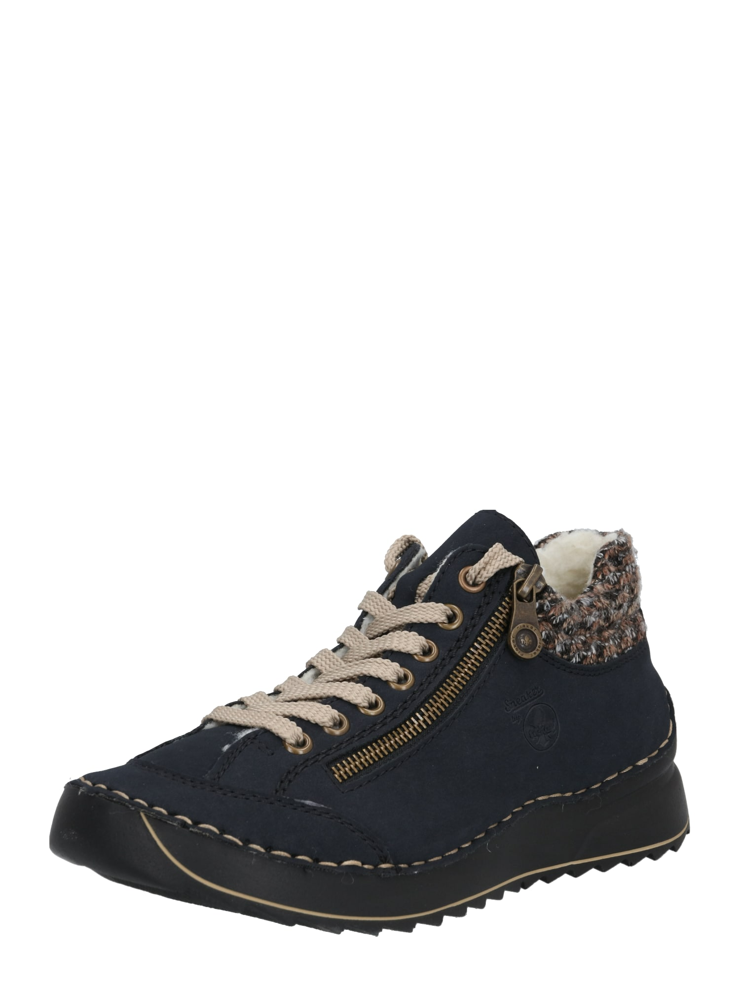 RIEKER Auliniai batai tamsiai mėlyna / smėlio / ruda