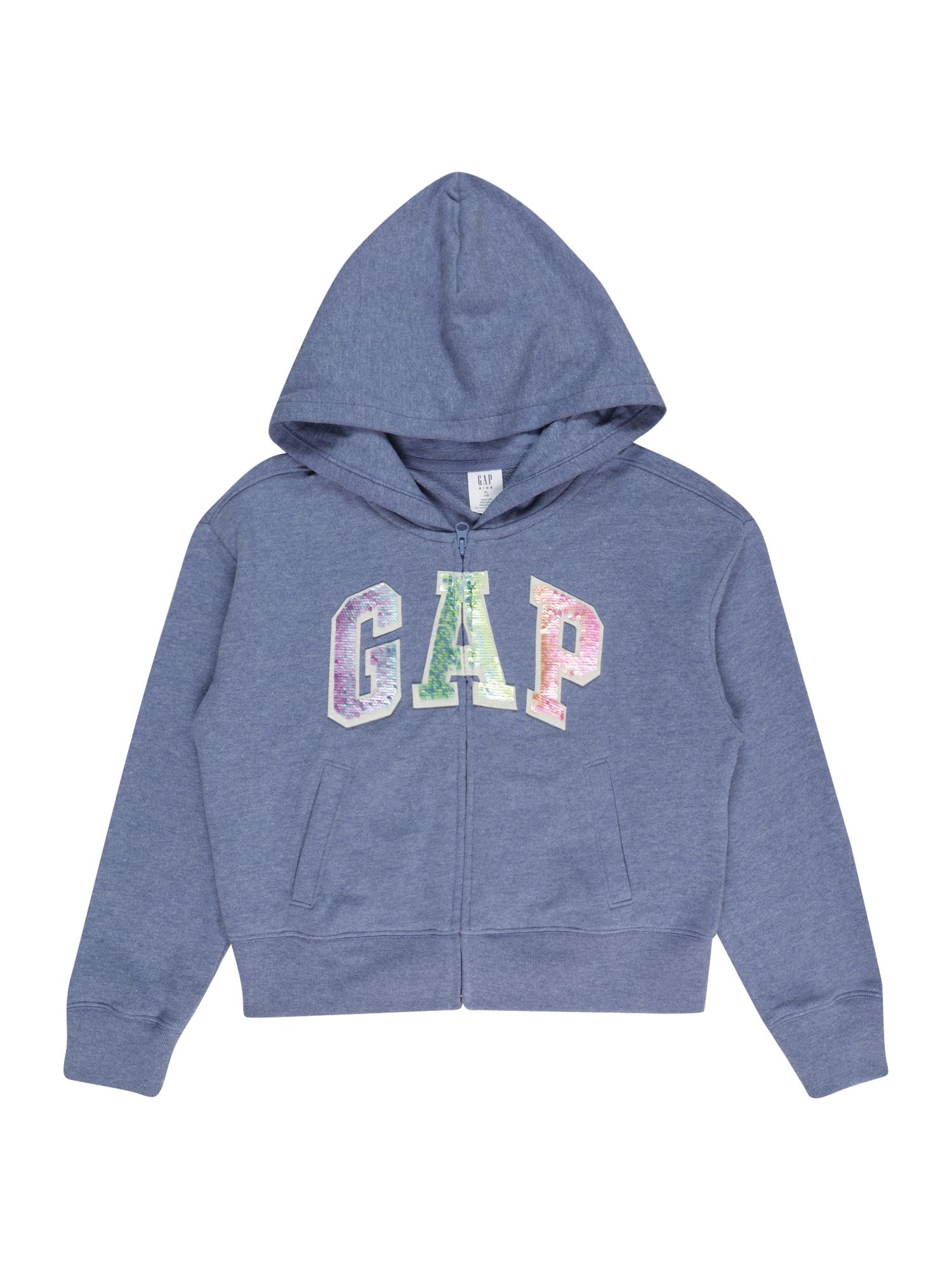 GAP Džemperis melsvai pilka / rožinė / kivių spalva / šviesiai mėlyna