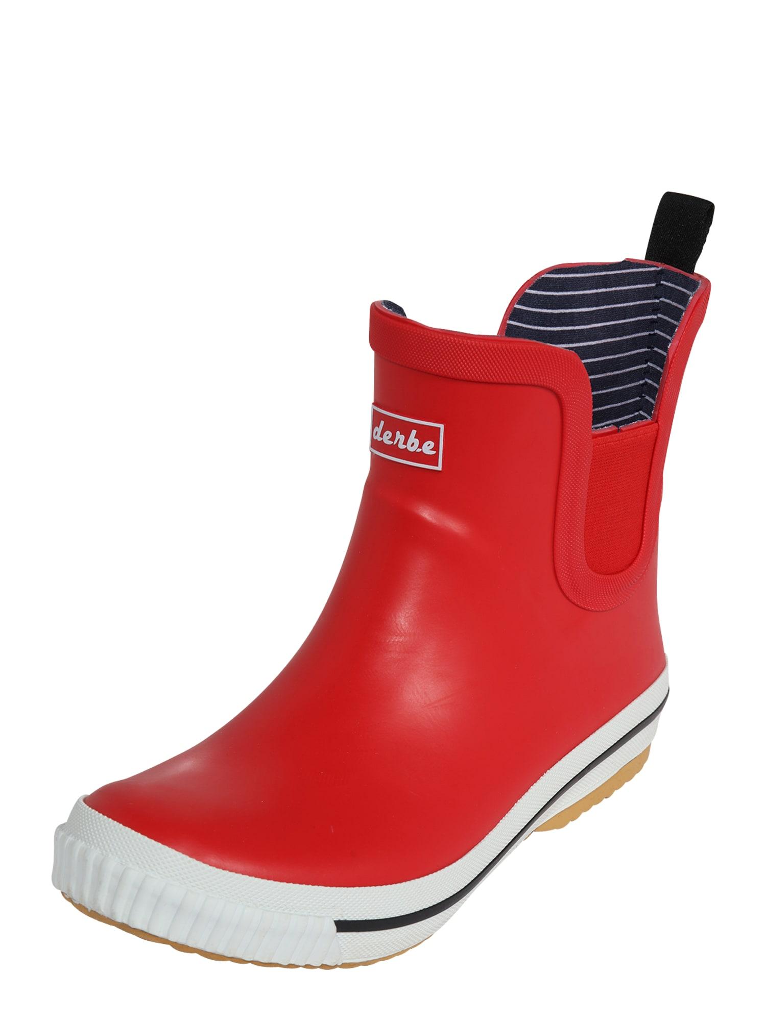 Derbe Guminiai batai raudona