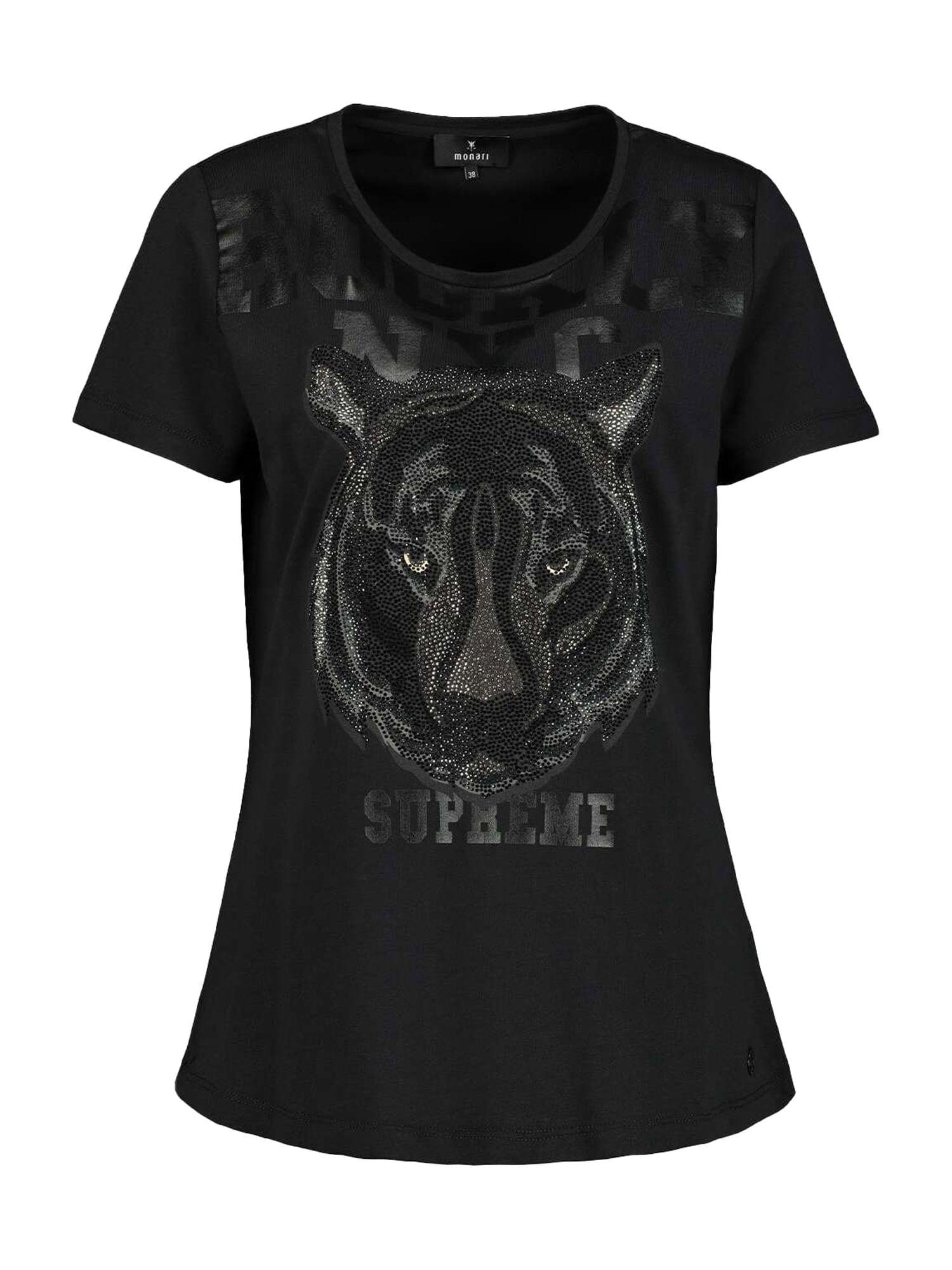 monari Marškinėliai juoda / sidabrinė