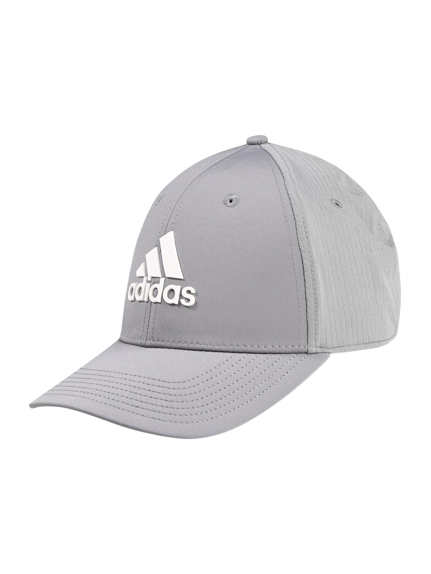 adidas Golf Sportinė kepurė balta / pilka