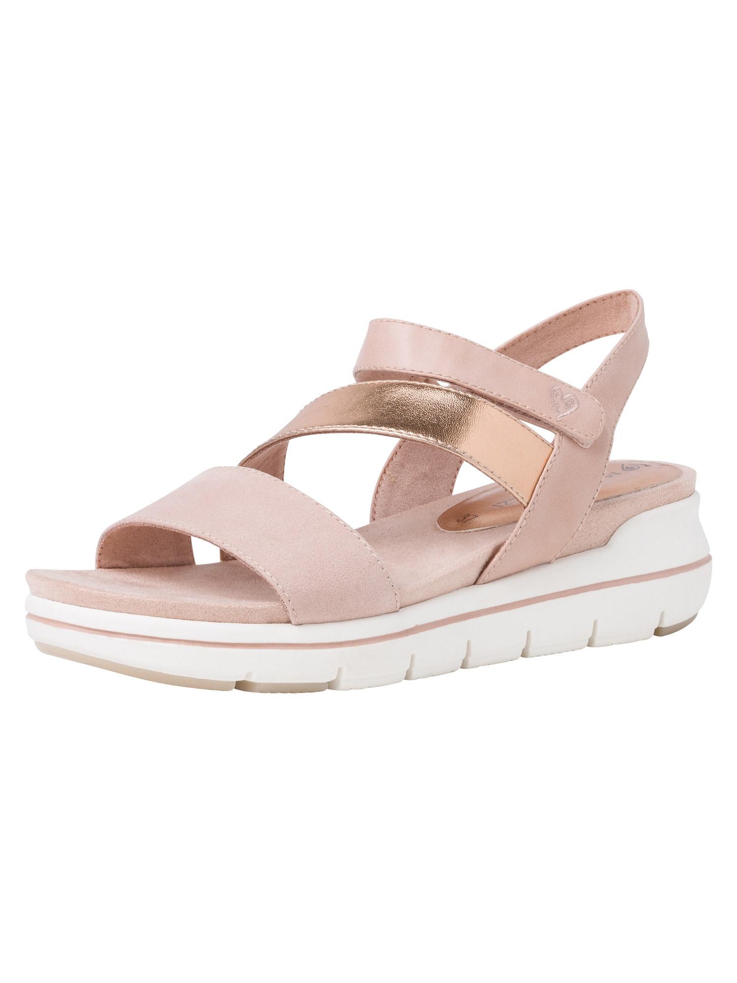 MARCO TOZZI Sandalai auksas / ryškiai rožinė spalva