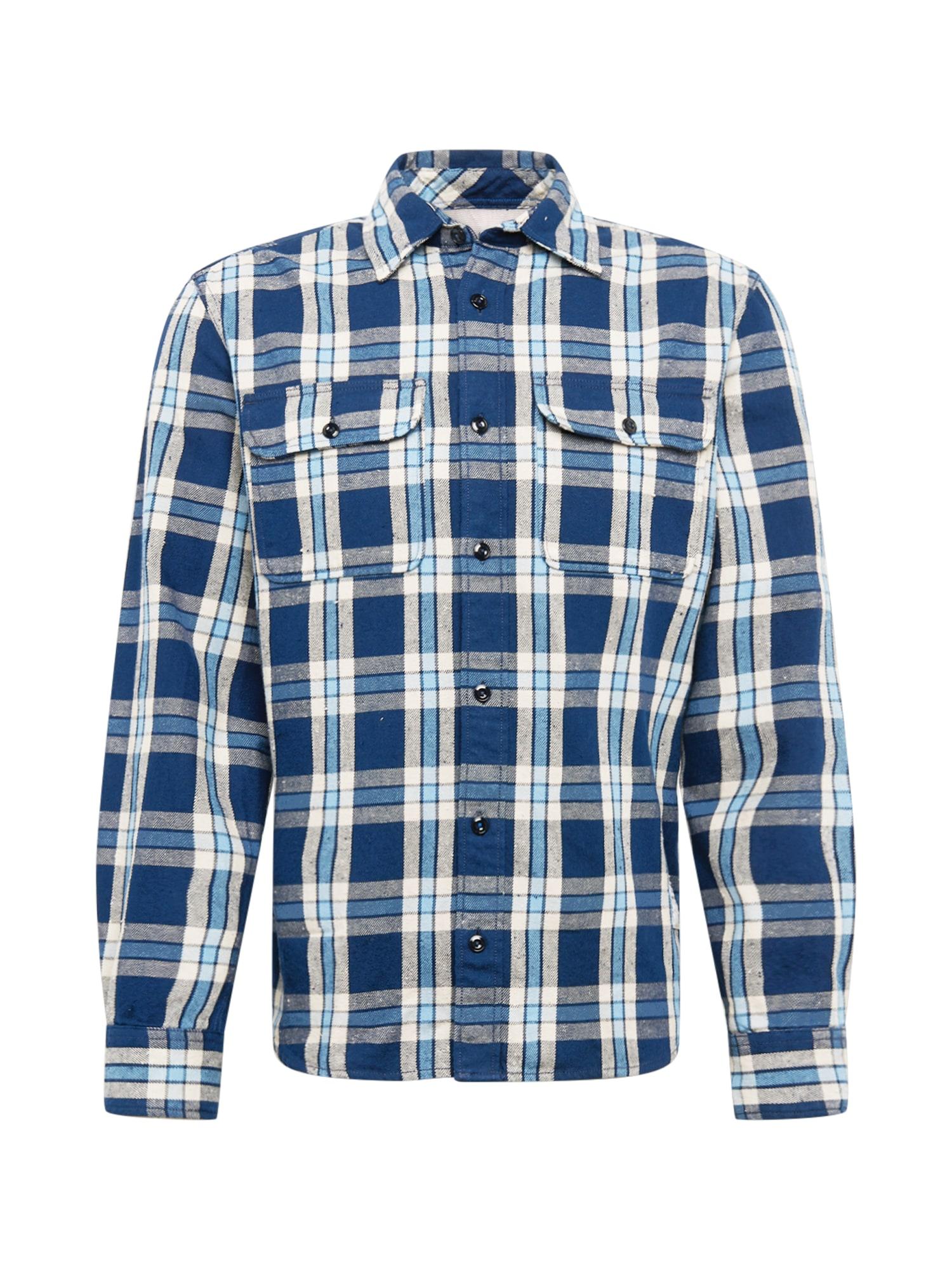 JACK & JONES Marškiniai tamsiai mėlyna / šviesiai mėlyna / balta