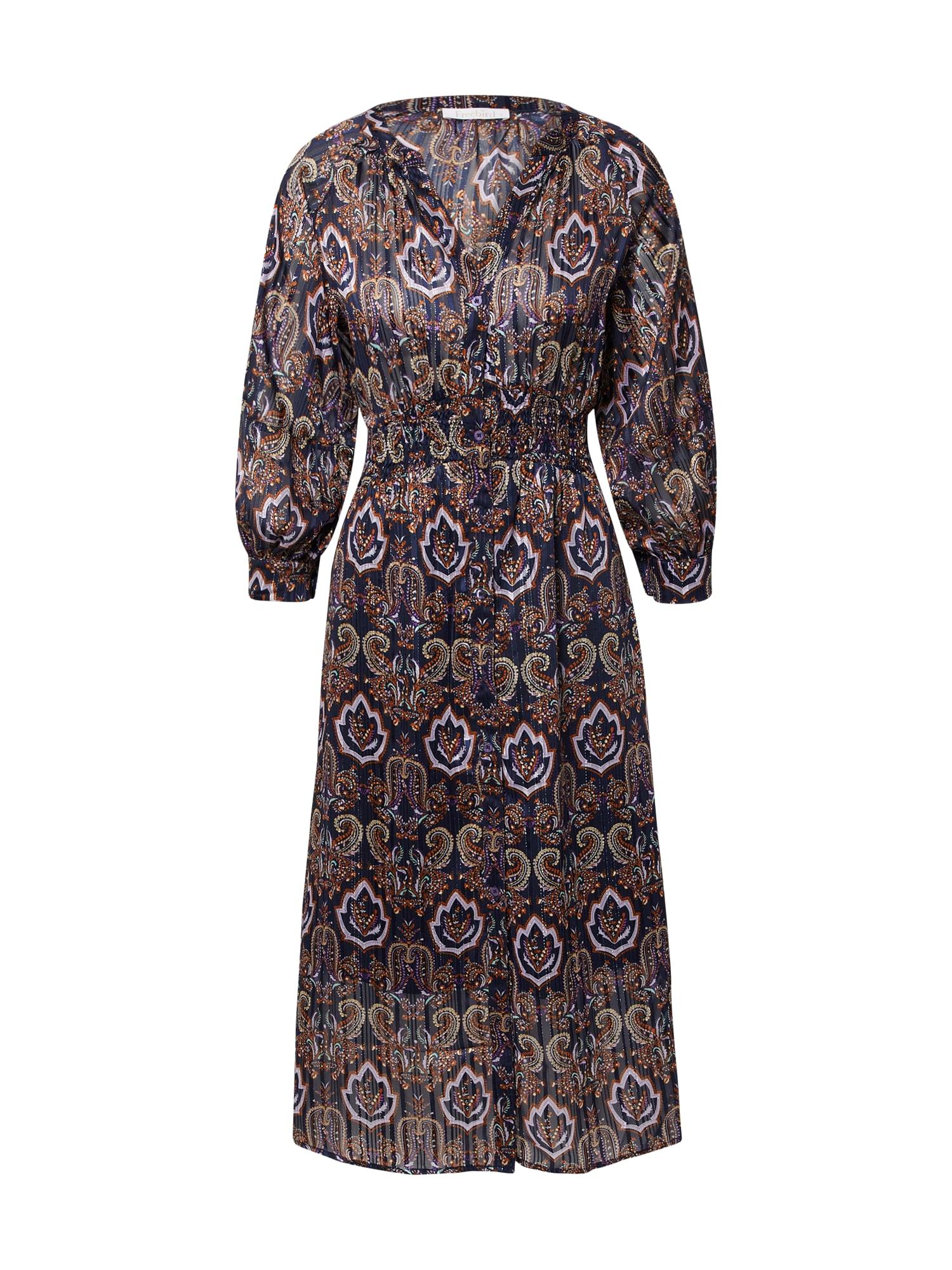 Freebird Palaidinės tipo suknelė purpurinė / baklažano spalva / geltona / oranžinė